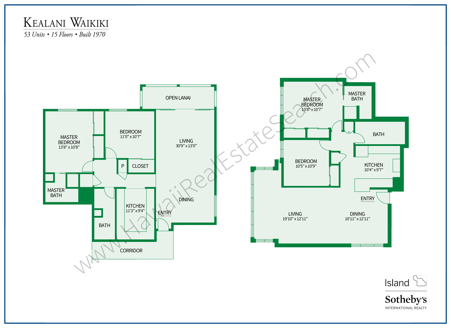 Kealani Floor Plans
