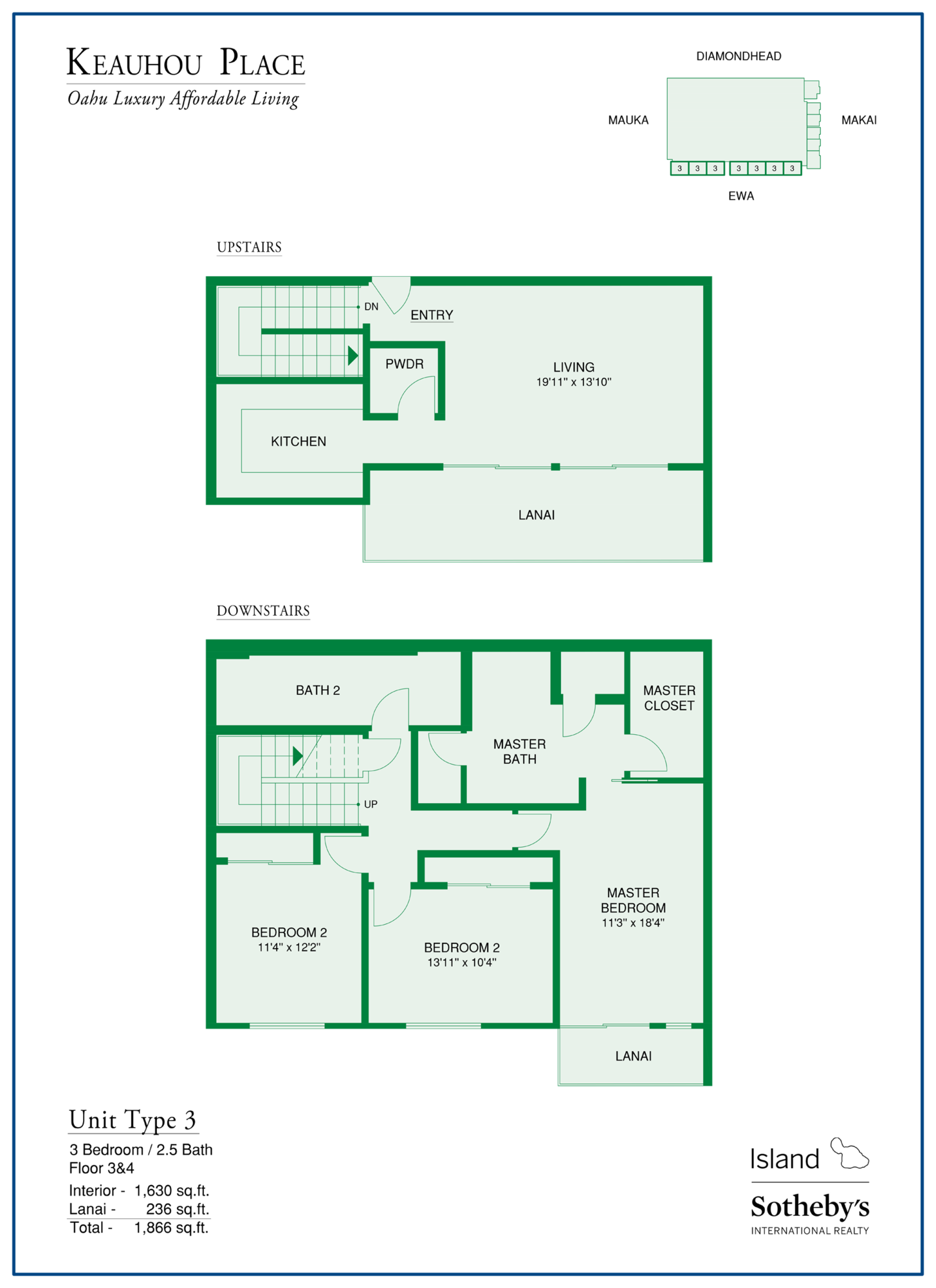 keauhou place floorplan in kakaako