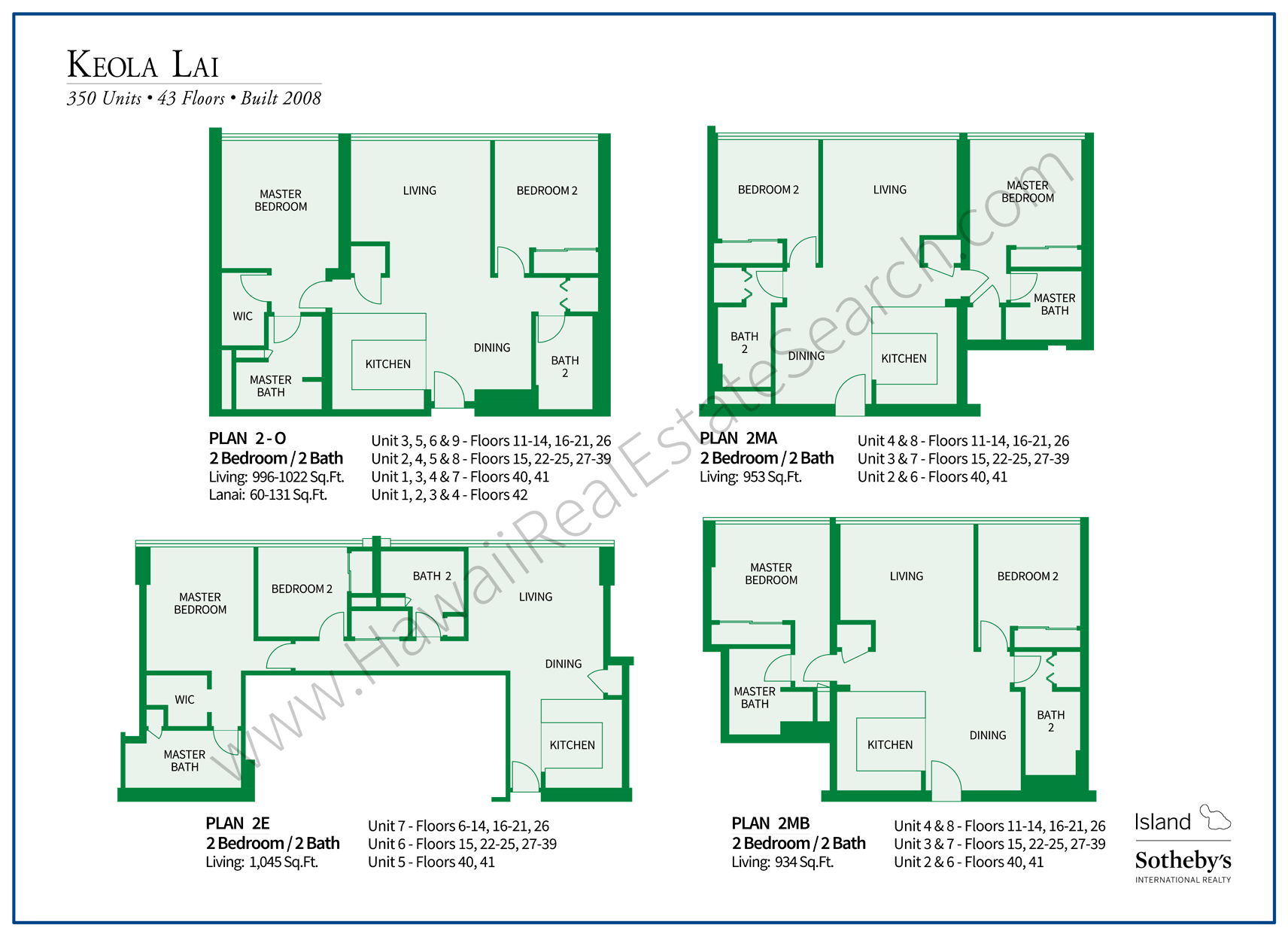 Keola Lai Floor Plans Updated