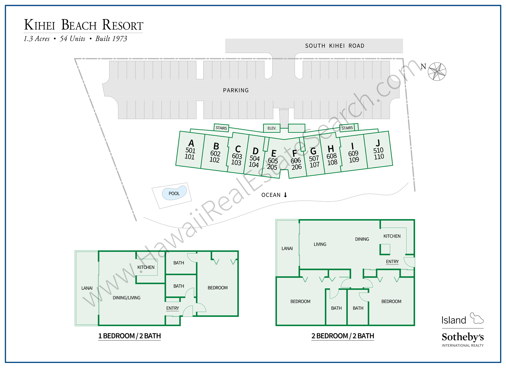 Kihei Beach Resort Map