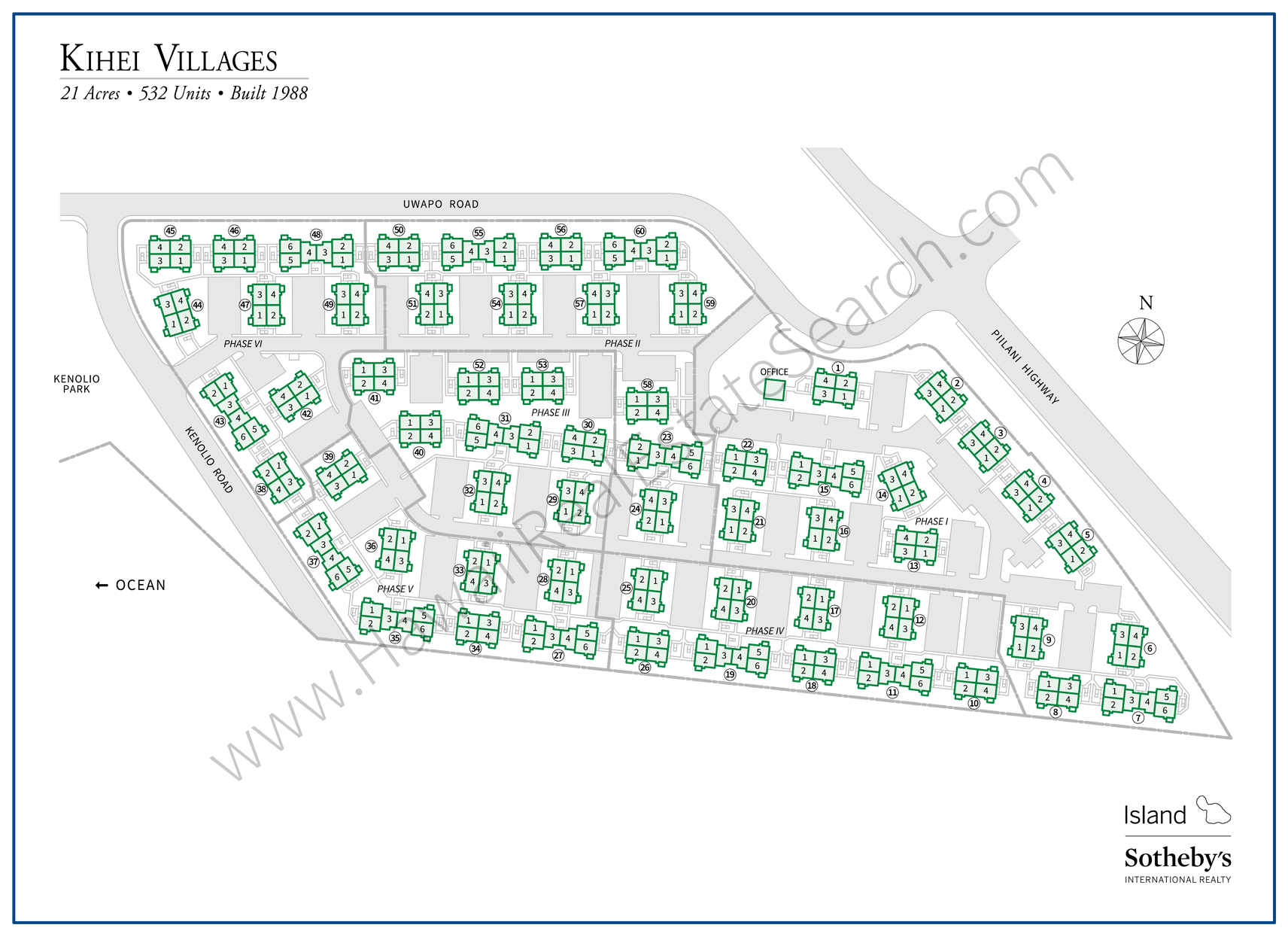 Kihei Villages Property Map Updated