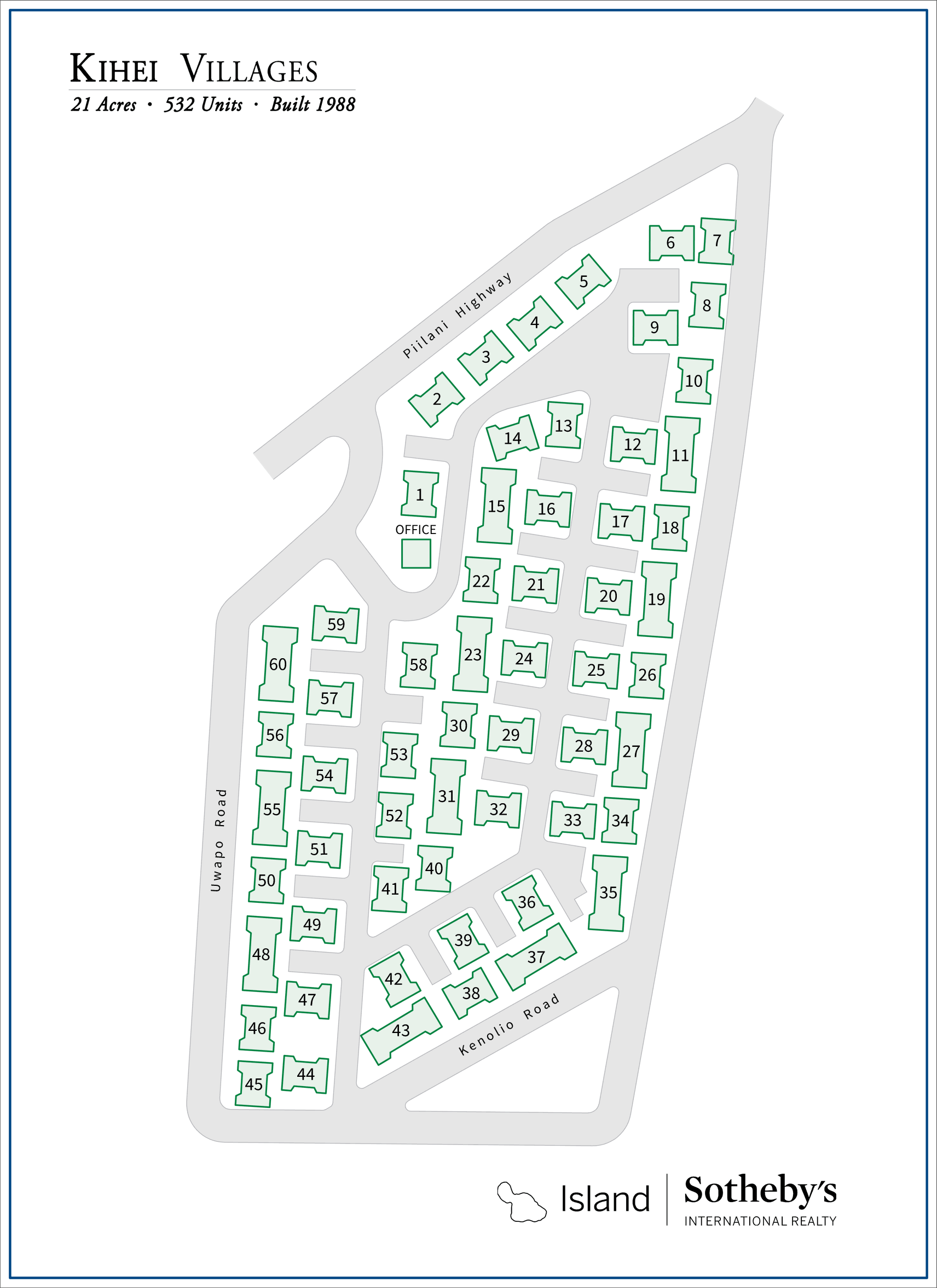 kihei villages condo map