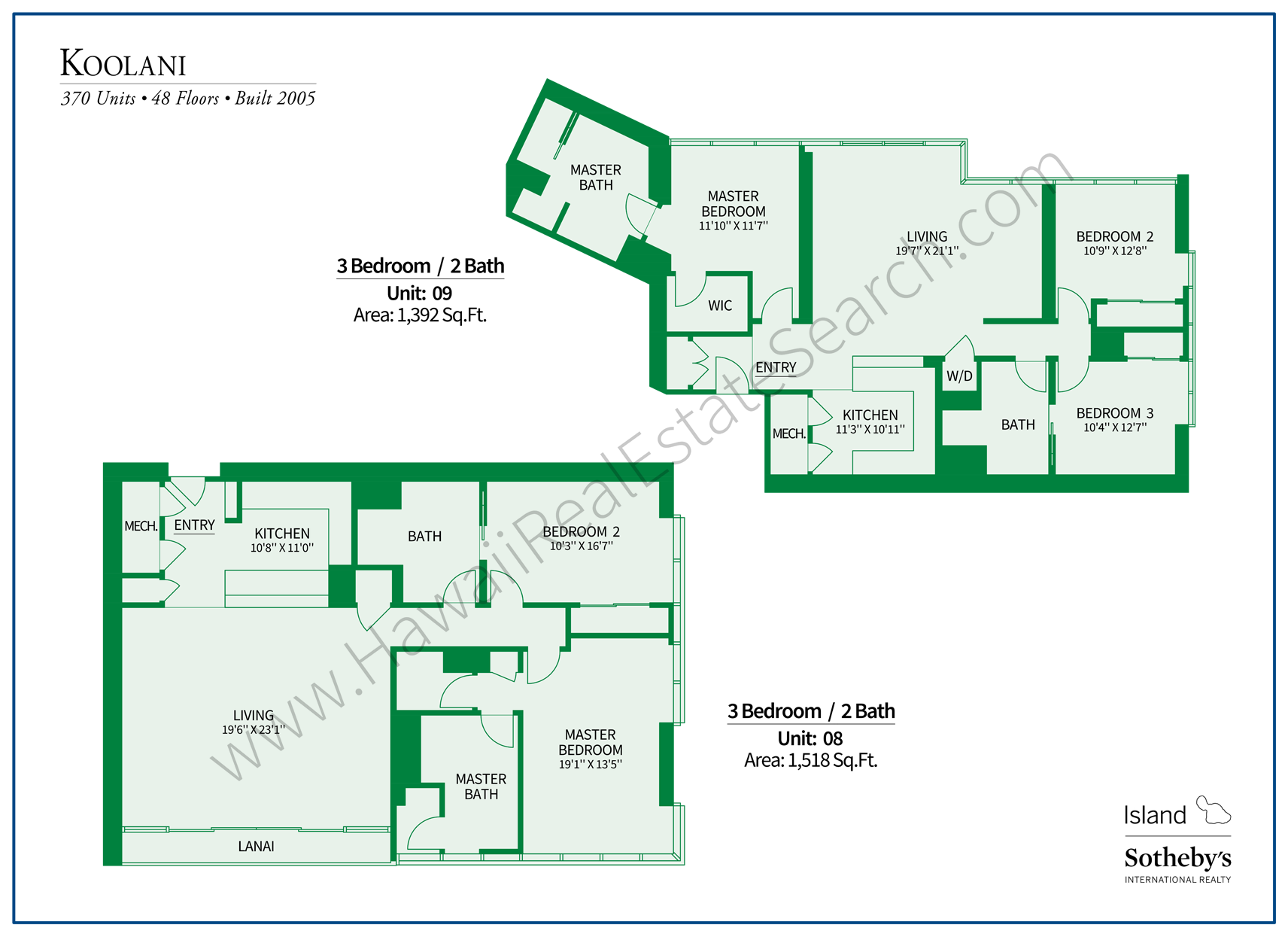 Koolani Floor Plans