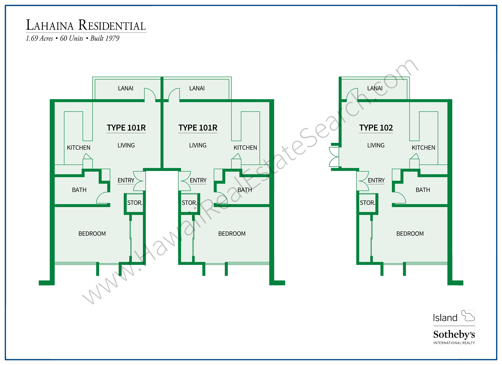 Lahaina Residential Floor Plans