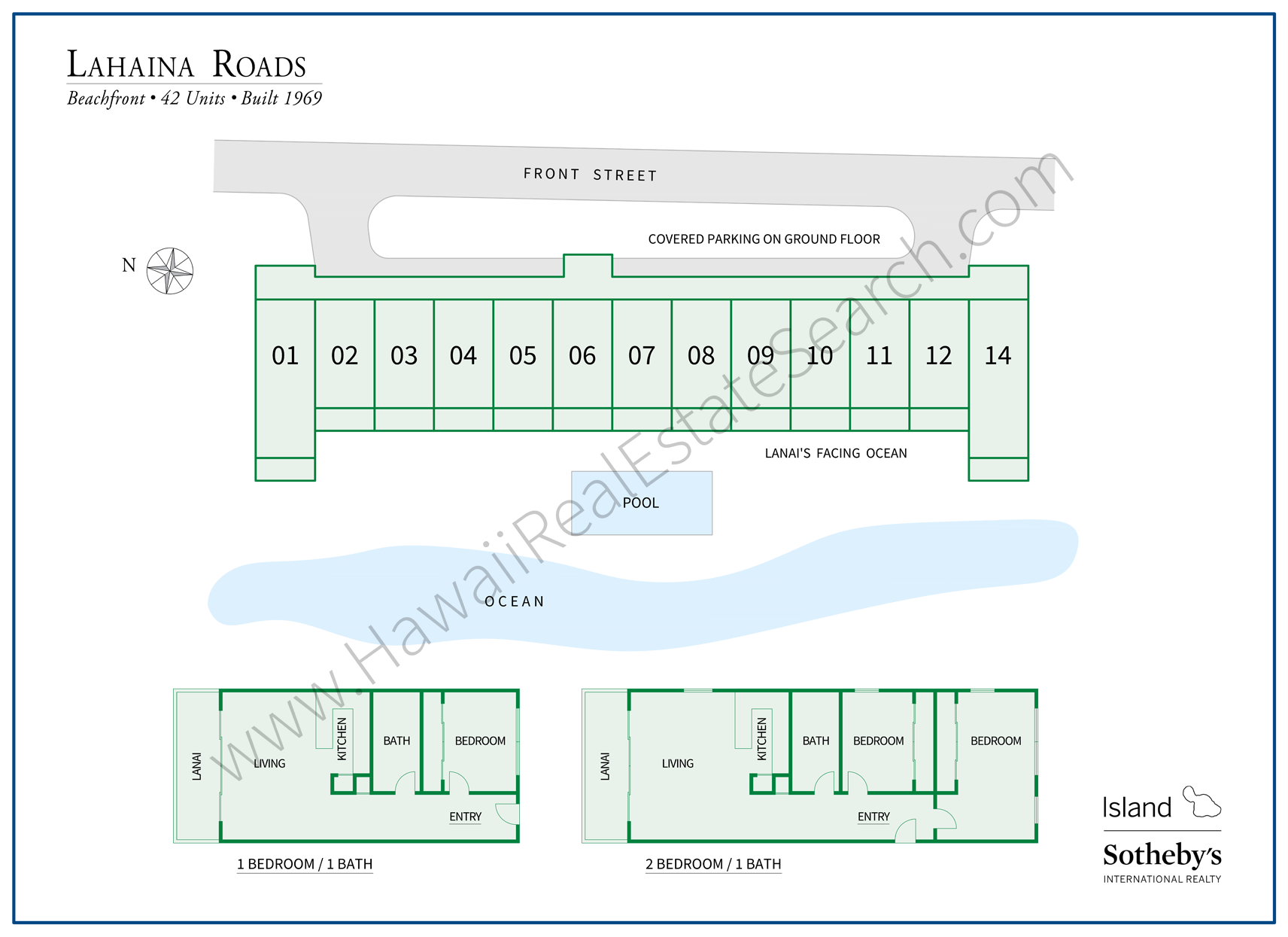 lahaina roads floor plan and map