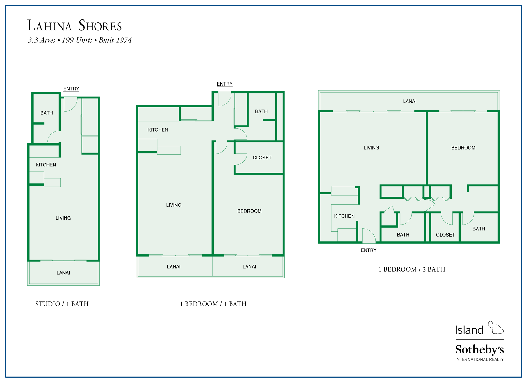lahaina shores floor plans