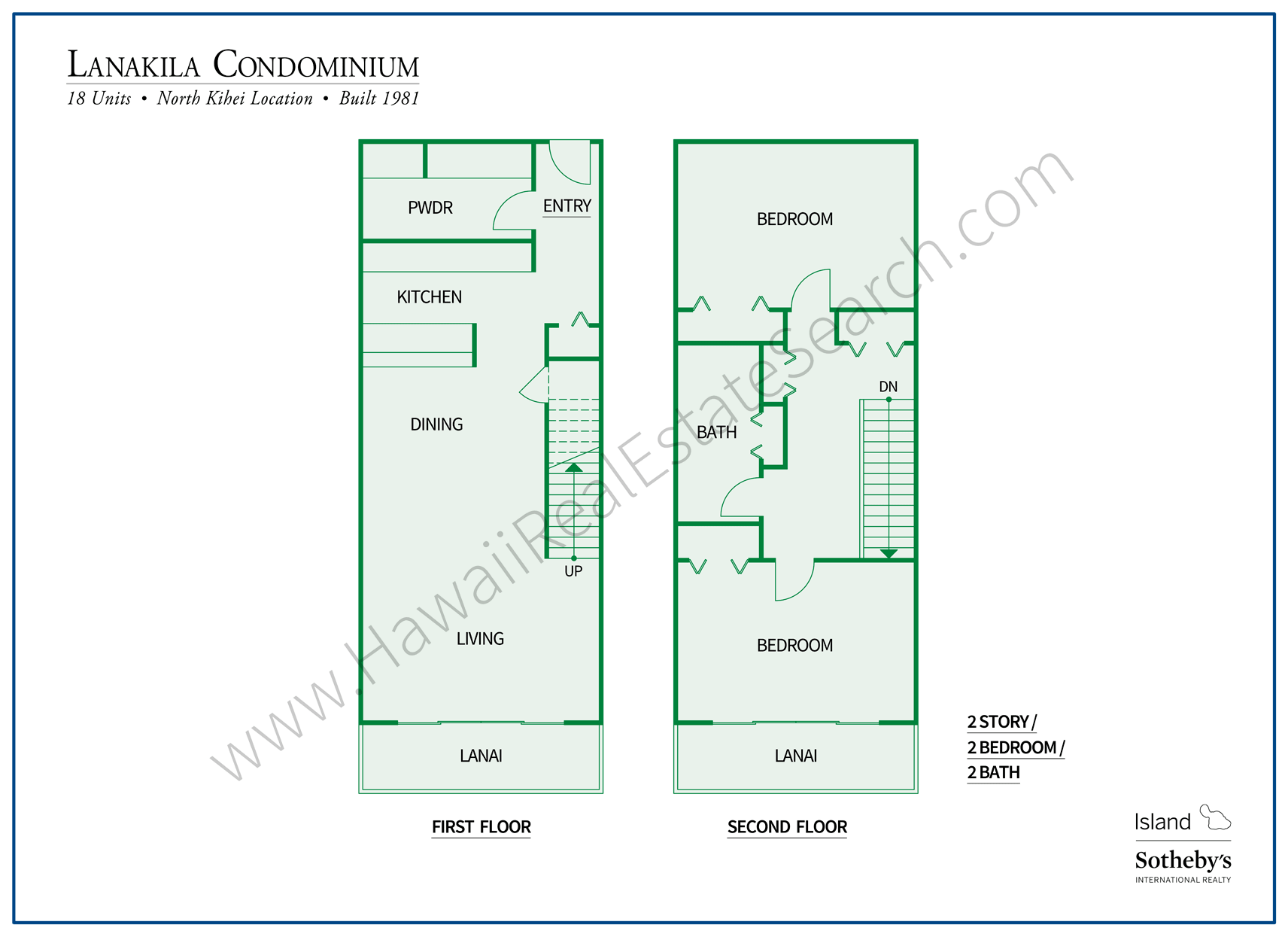 Floor plan of Condo in Lanakila