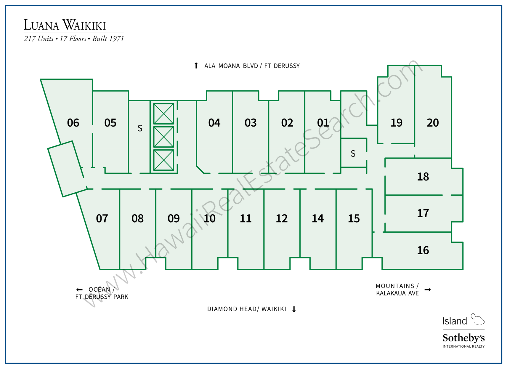 luana waikiki property map