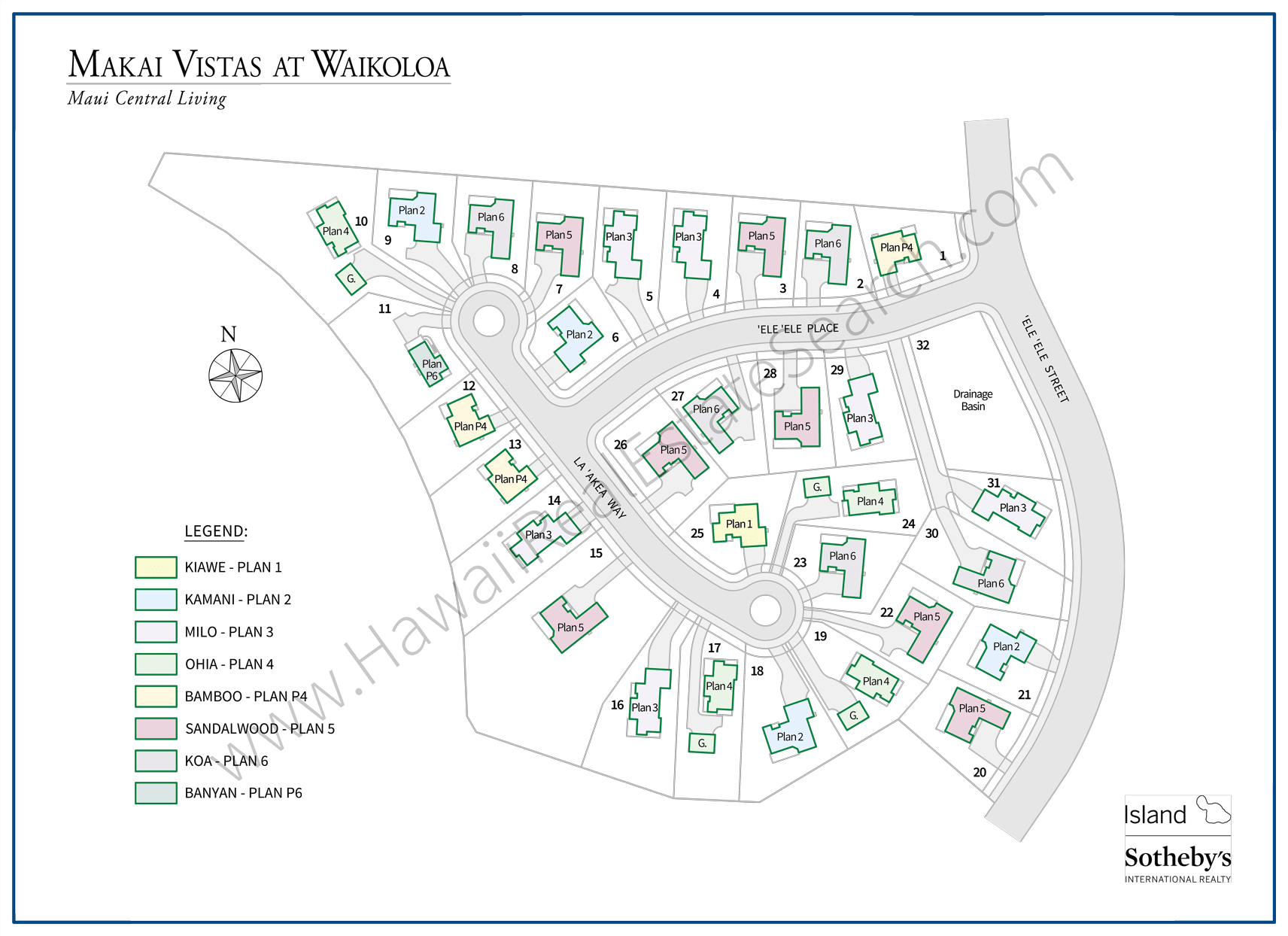 Makai Vistas at Waikoloa Map