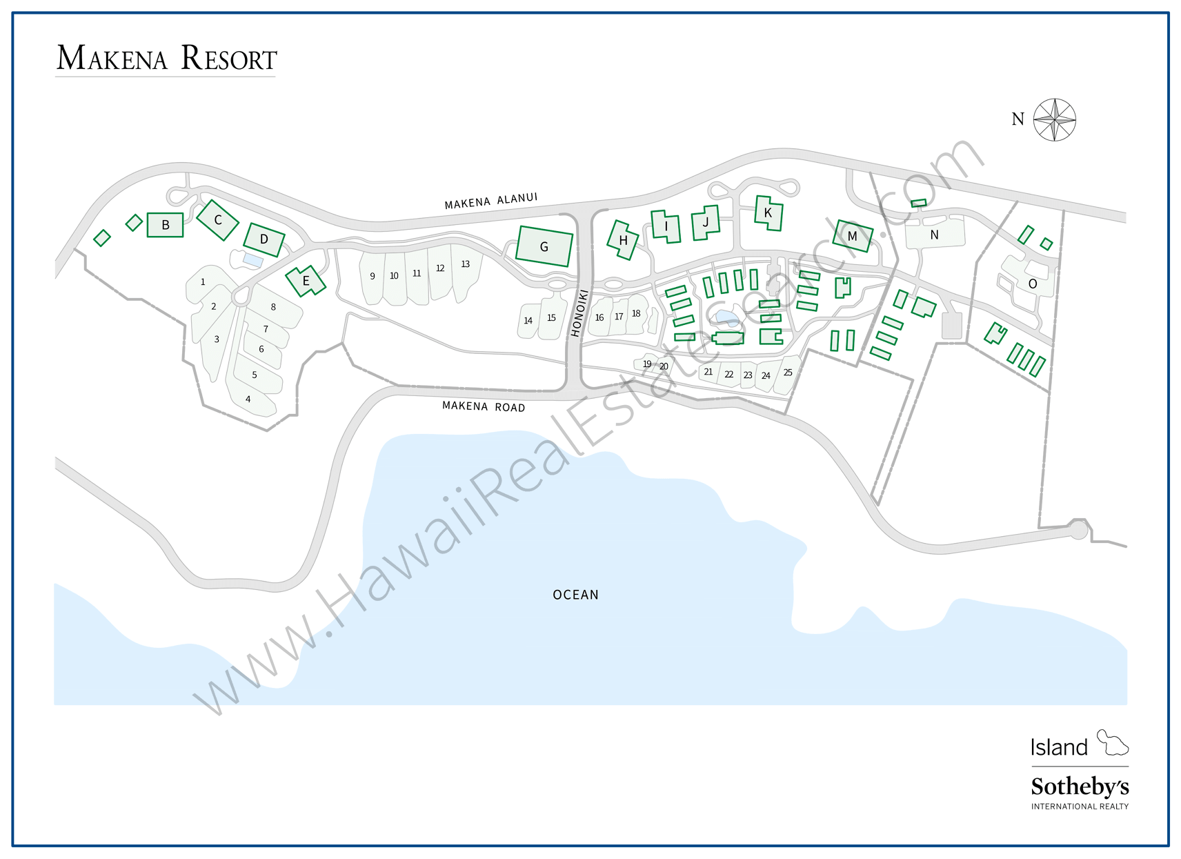 Makena Resort Development Map