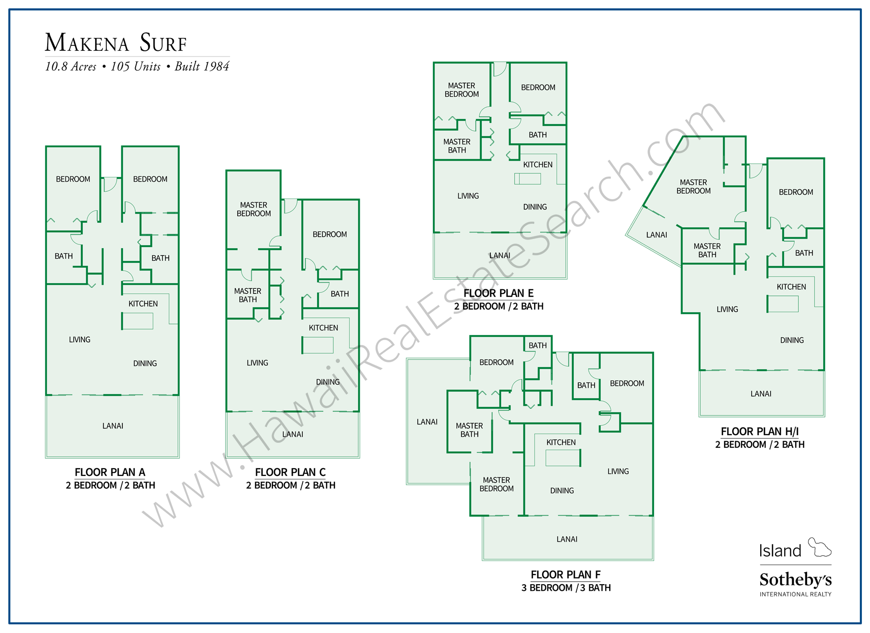 makena surf floor plans 2018