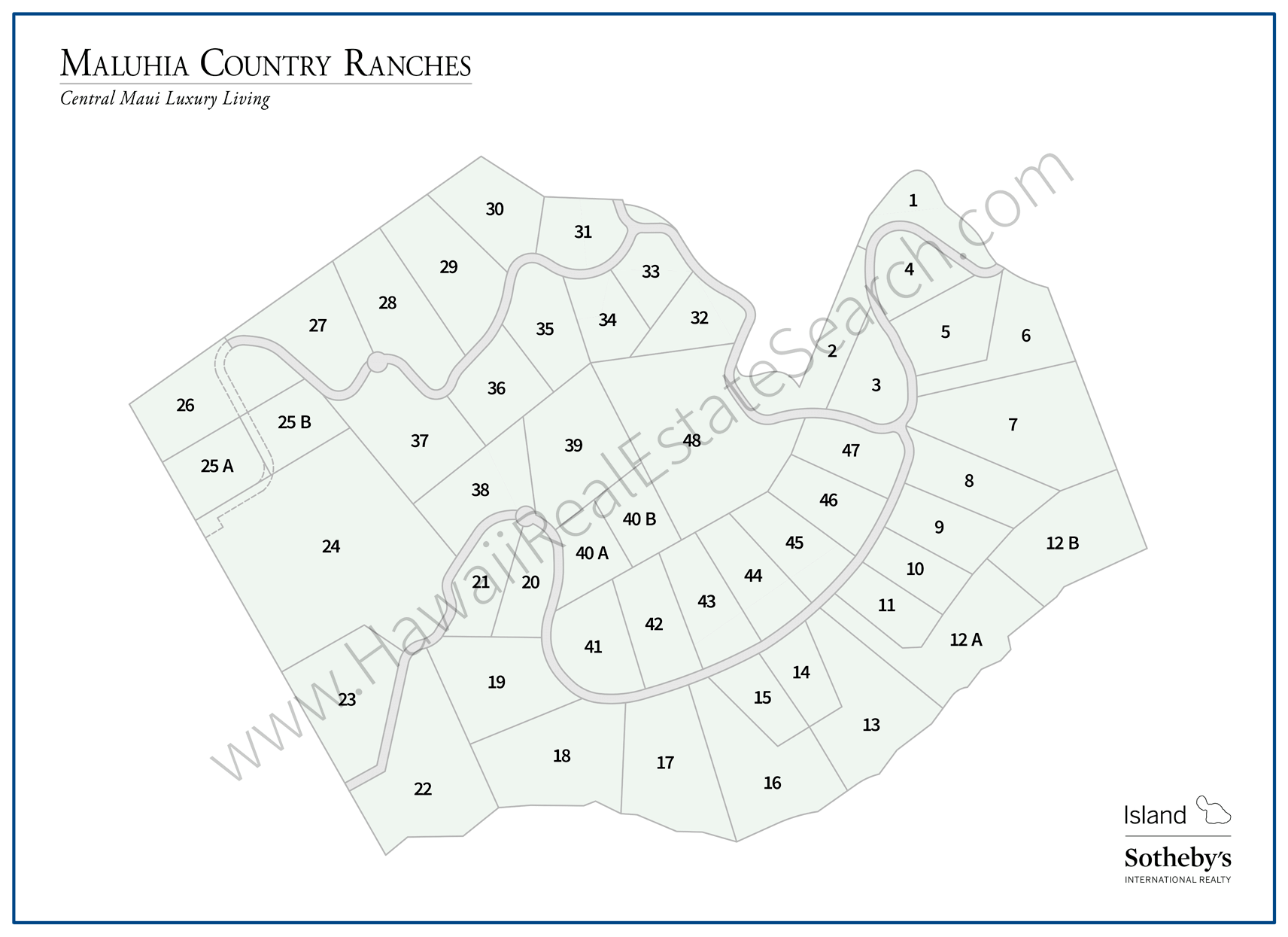 Maluhia Country Ranches Map