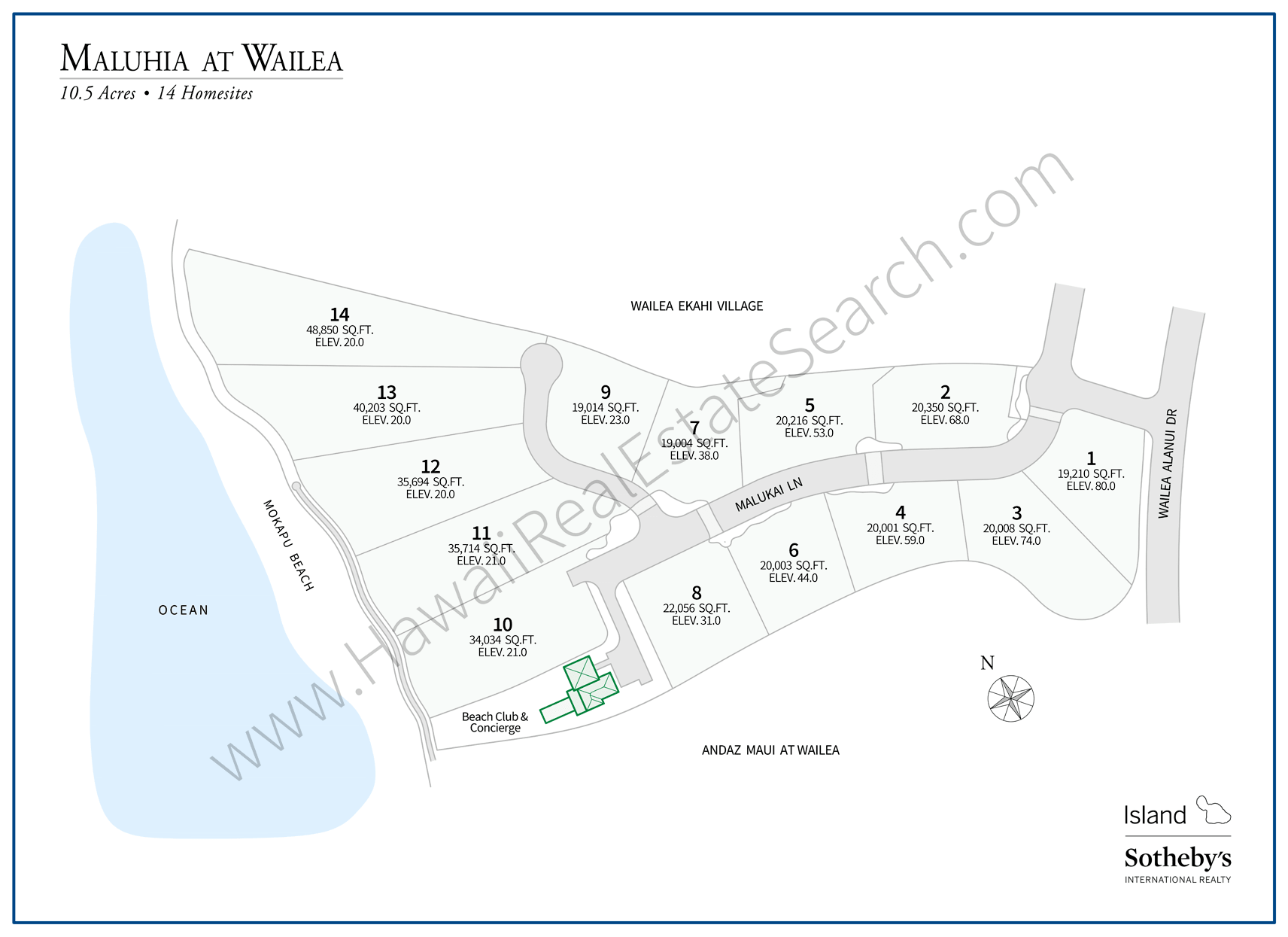 Maluhia at Wailea Map Updated