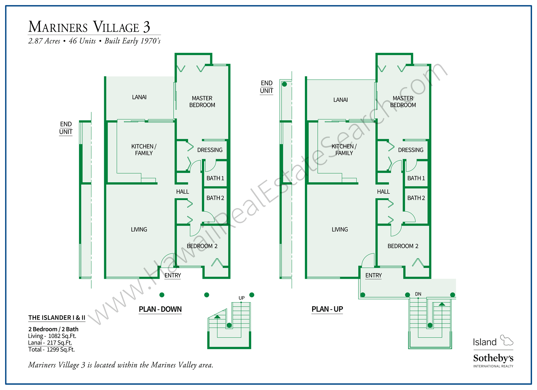 Hawaii Kai Mariners Village Floor Plan