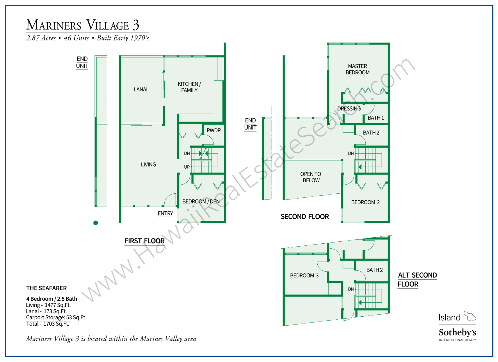 Mariners Village Floor Plan Hawaii Kai