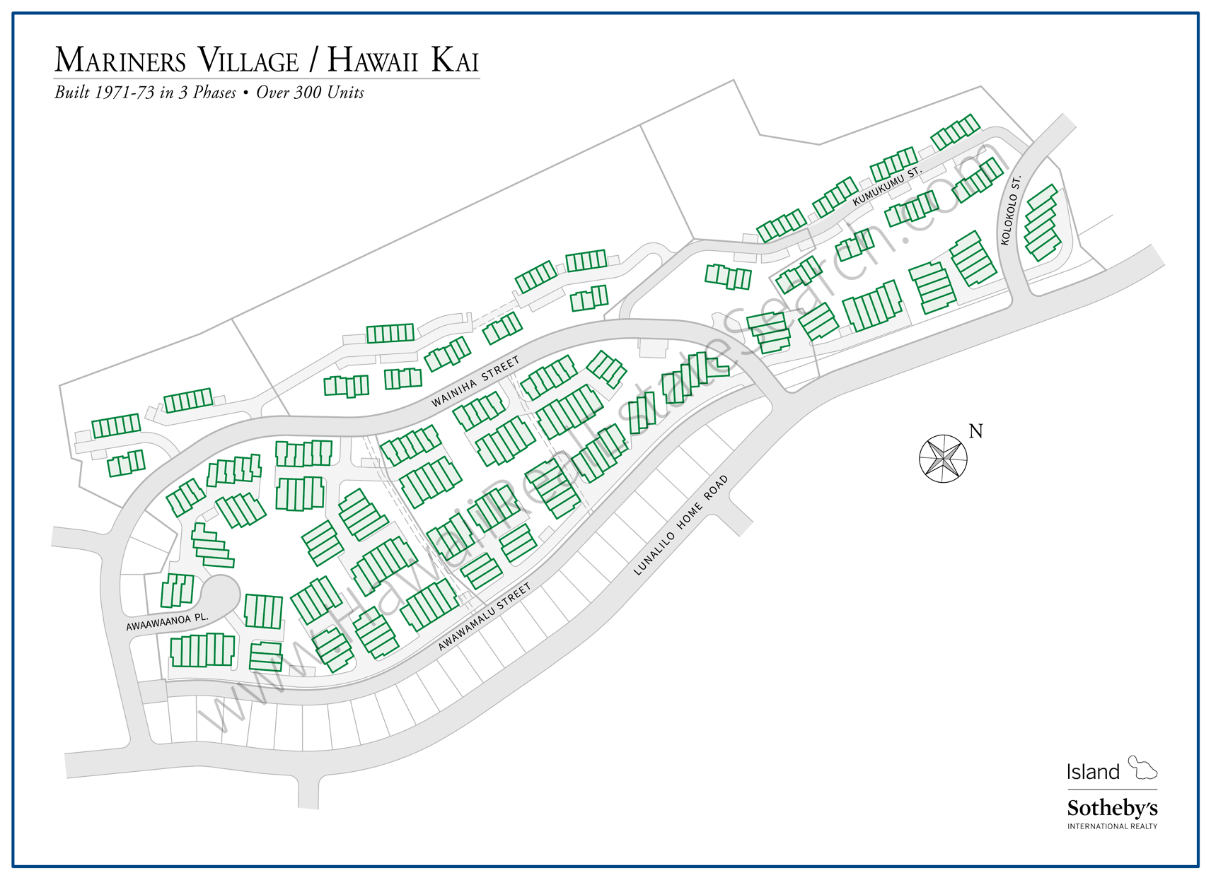 Mariners Village Hawaii Kai Map