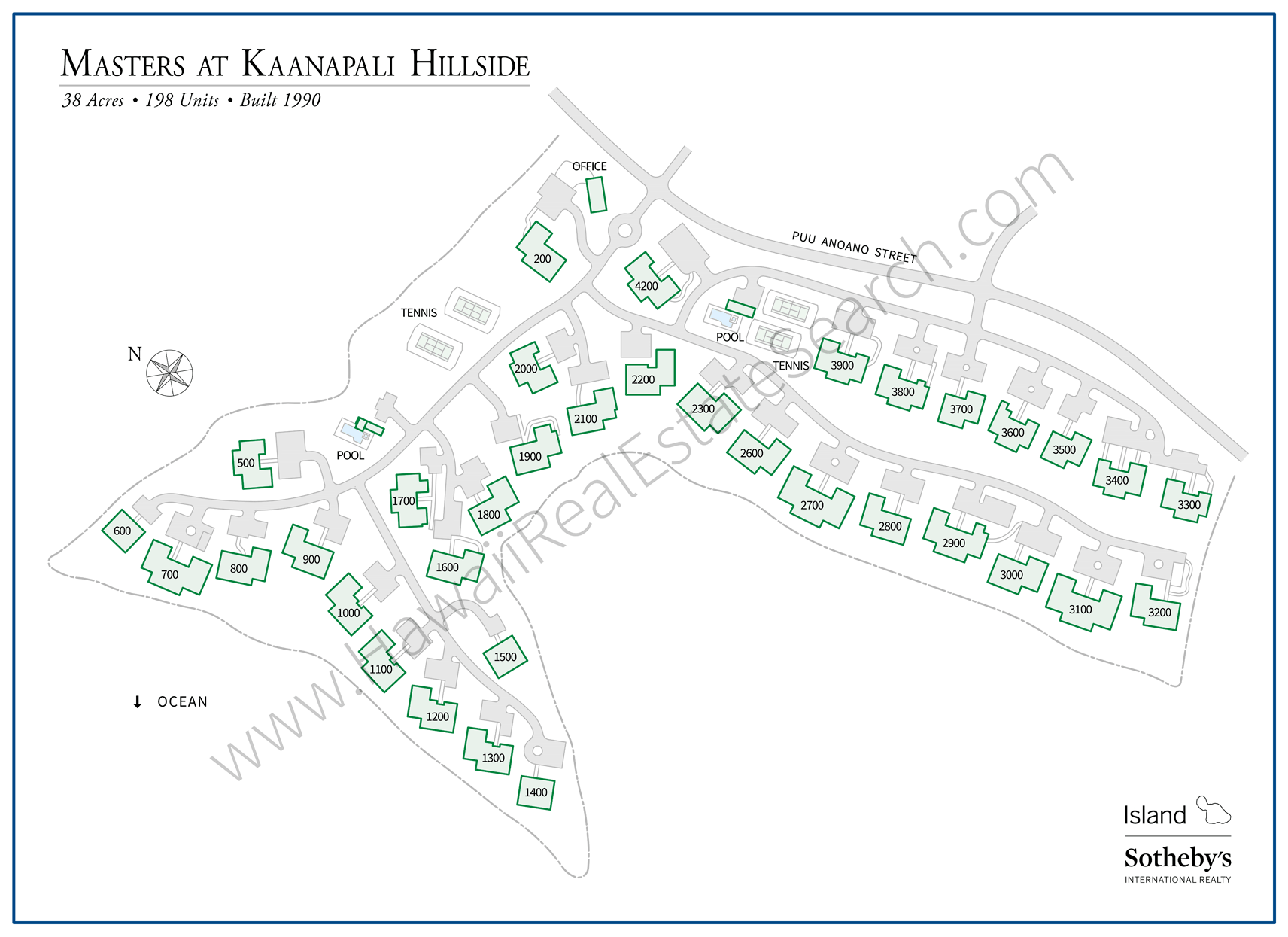 Masters Kaanapali Property Map Updated 2018
