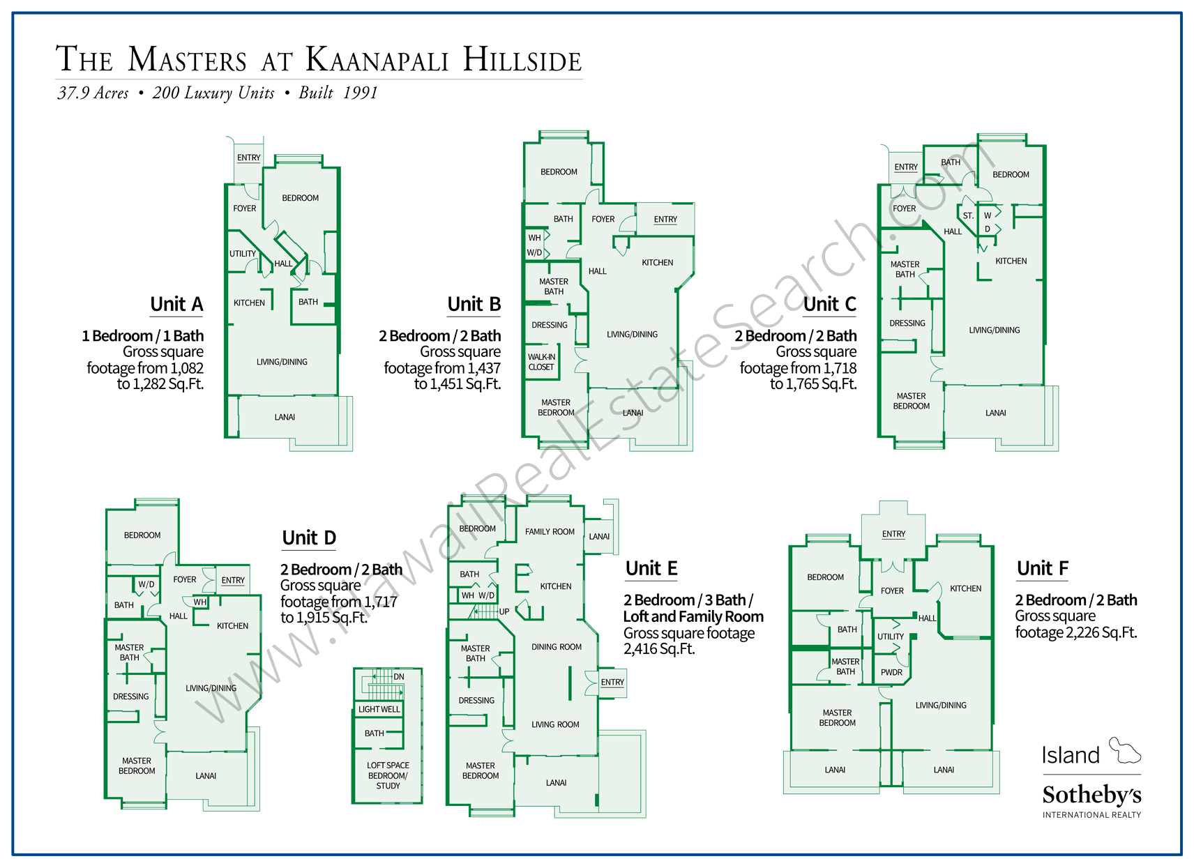 Masters at Kaanapali Floor Plans