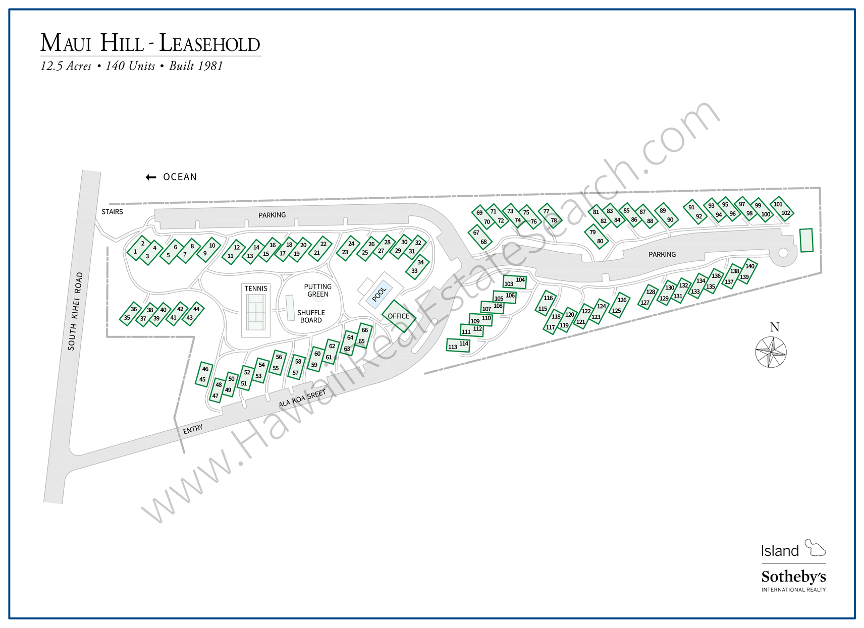 Maui Hill Map Updated 2018