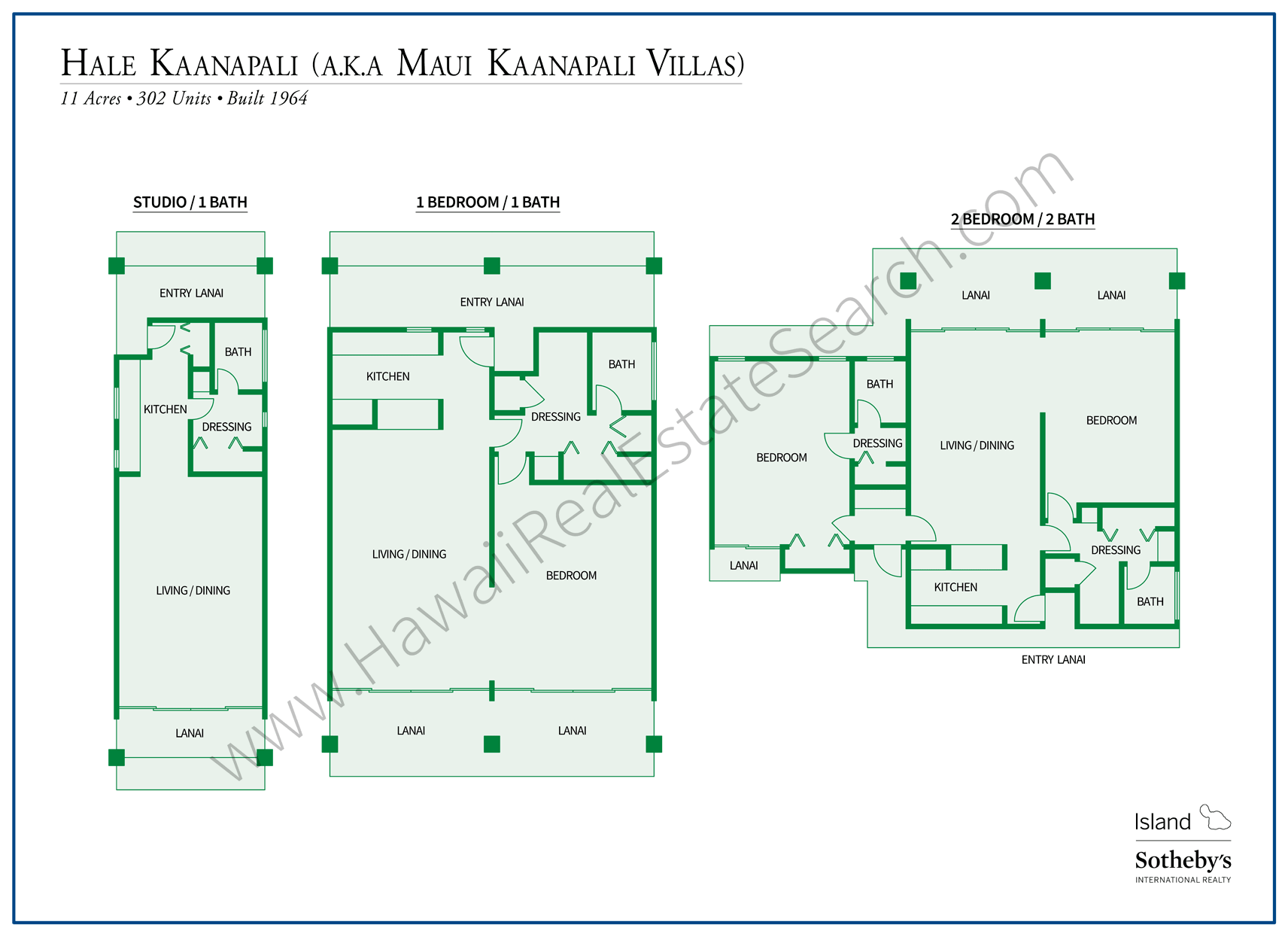 Maui Kaanapali Villas Floor Plans