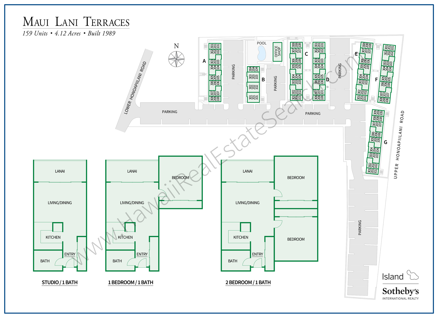 maui lani terraces map and floor plans