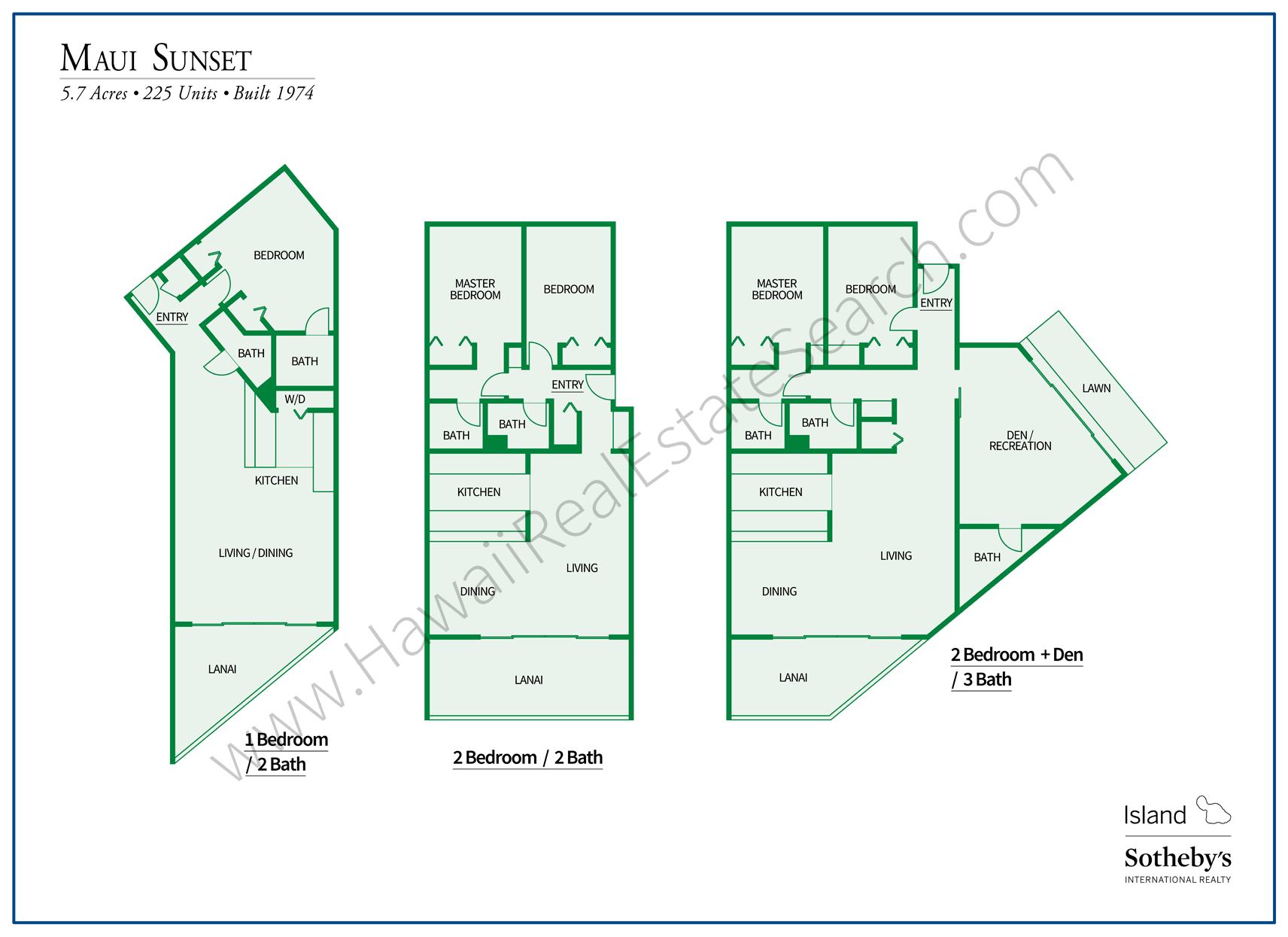 Maui Sunset Floor Plans Updated