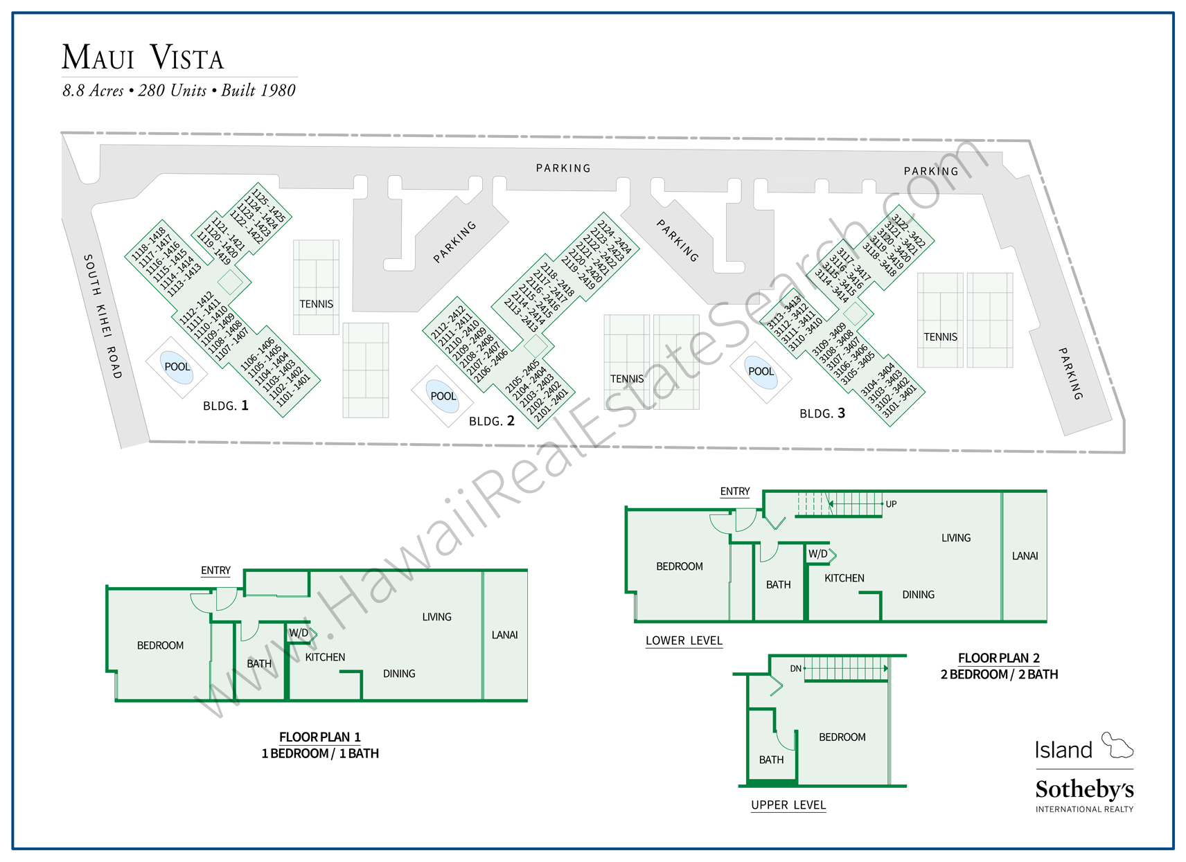 maui vista map and floor plans