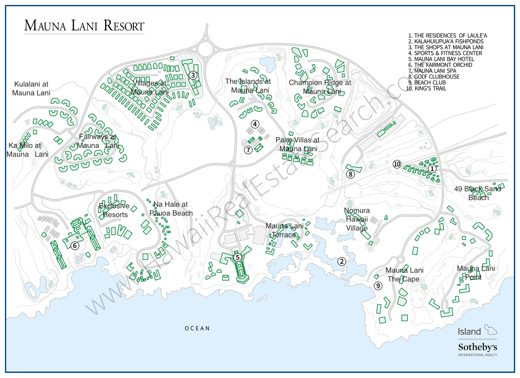 Mauna Lani Resort Map Updated 2019