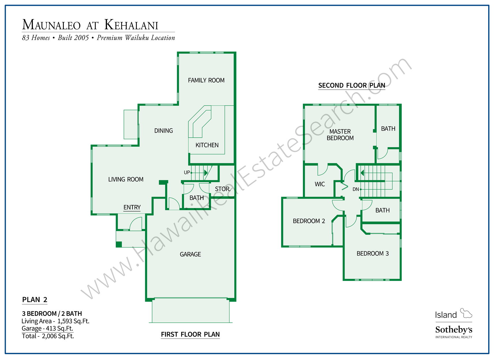 Floor Plan of Maunaleo at Kehalani Home