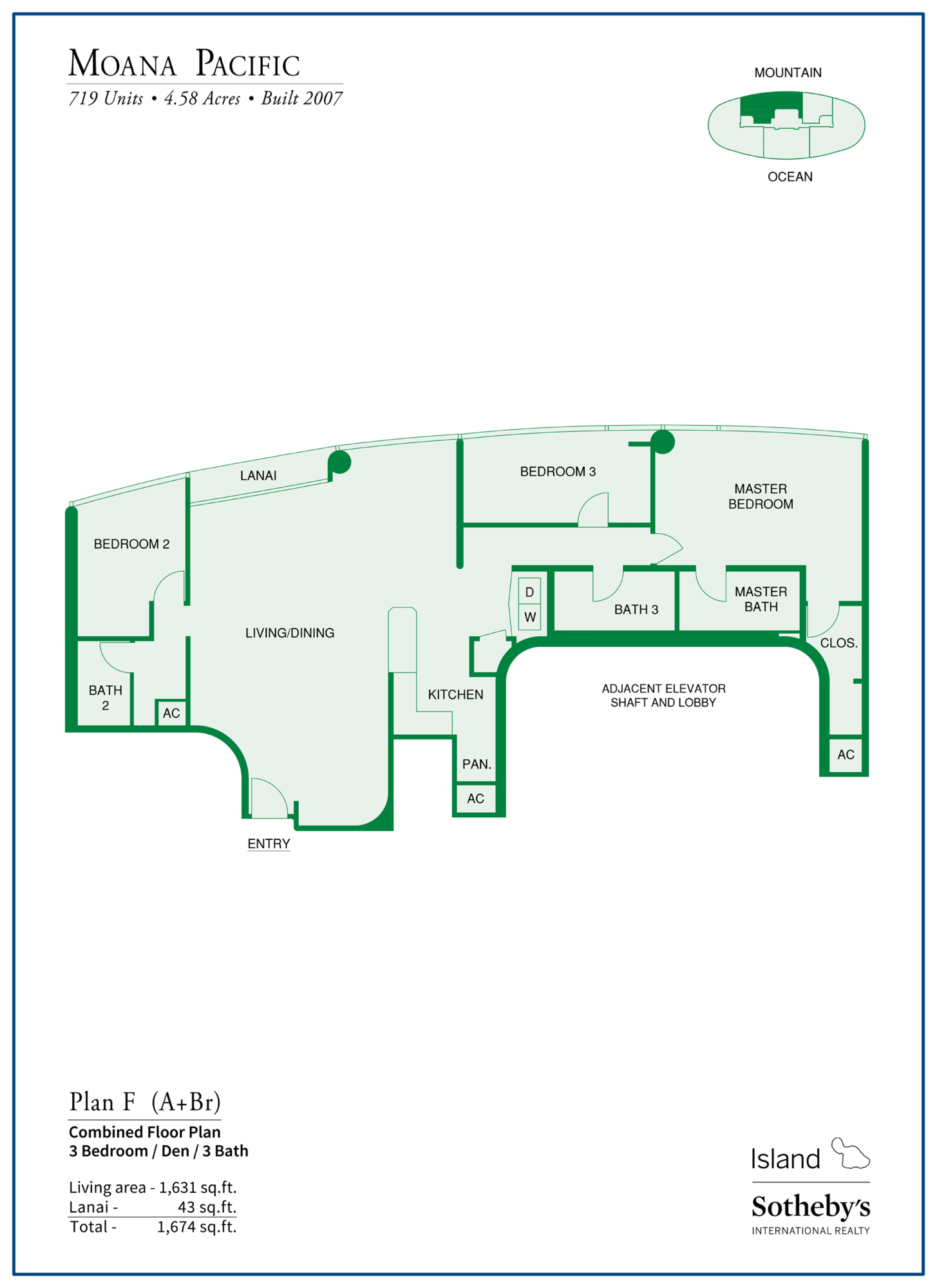 Moana Pacific Floor Plan F Honolulu
