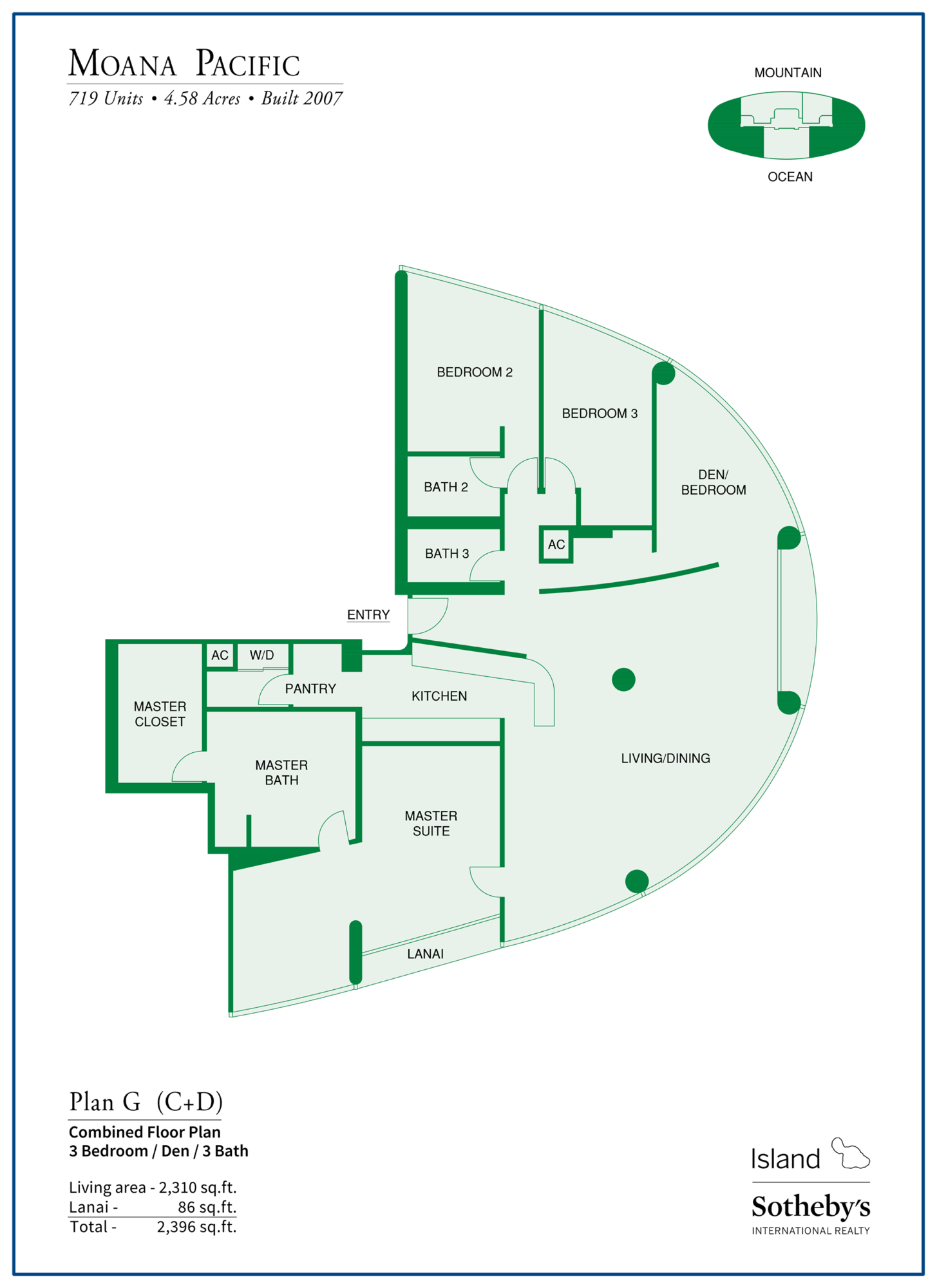 Moana Pacific Floor Plan G Condo by Ala Moana