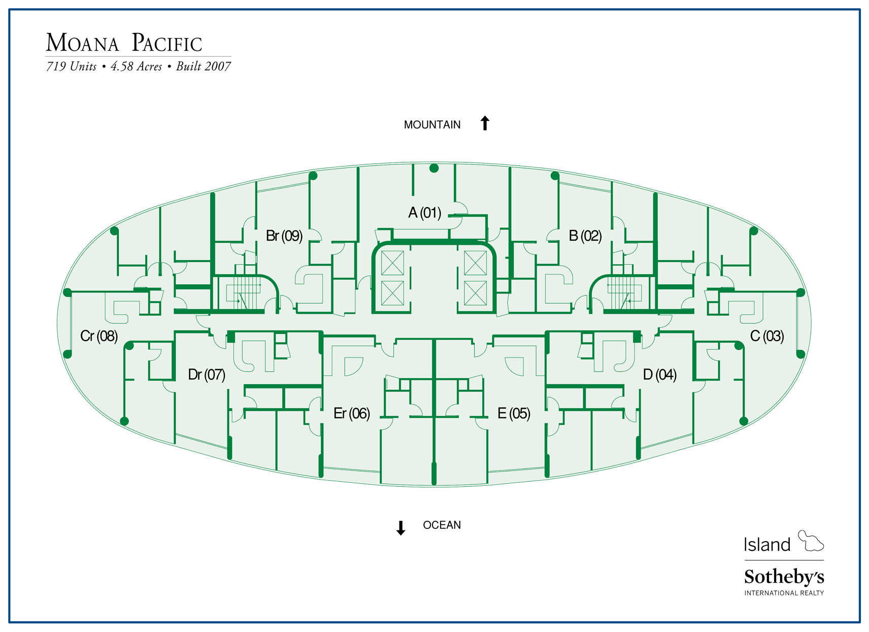 Moana Pacific Condo Map