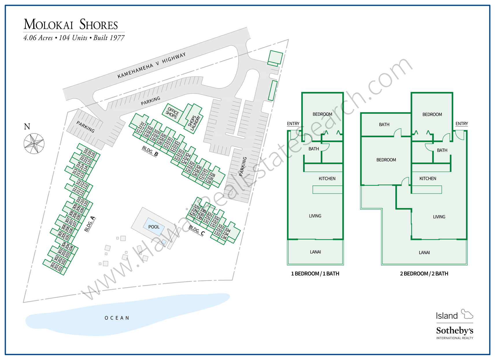 Molokai Shores Map