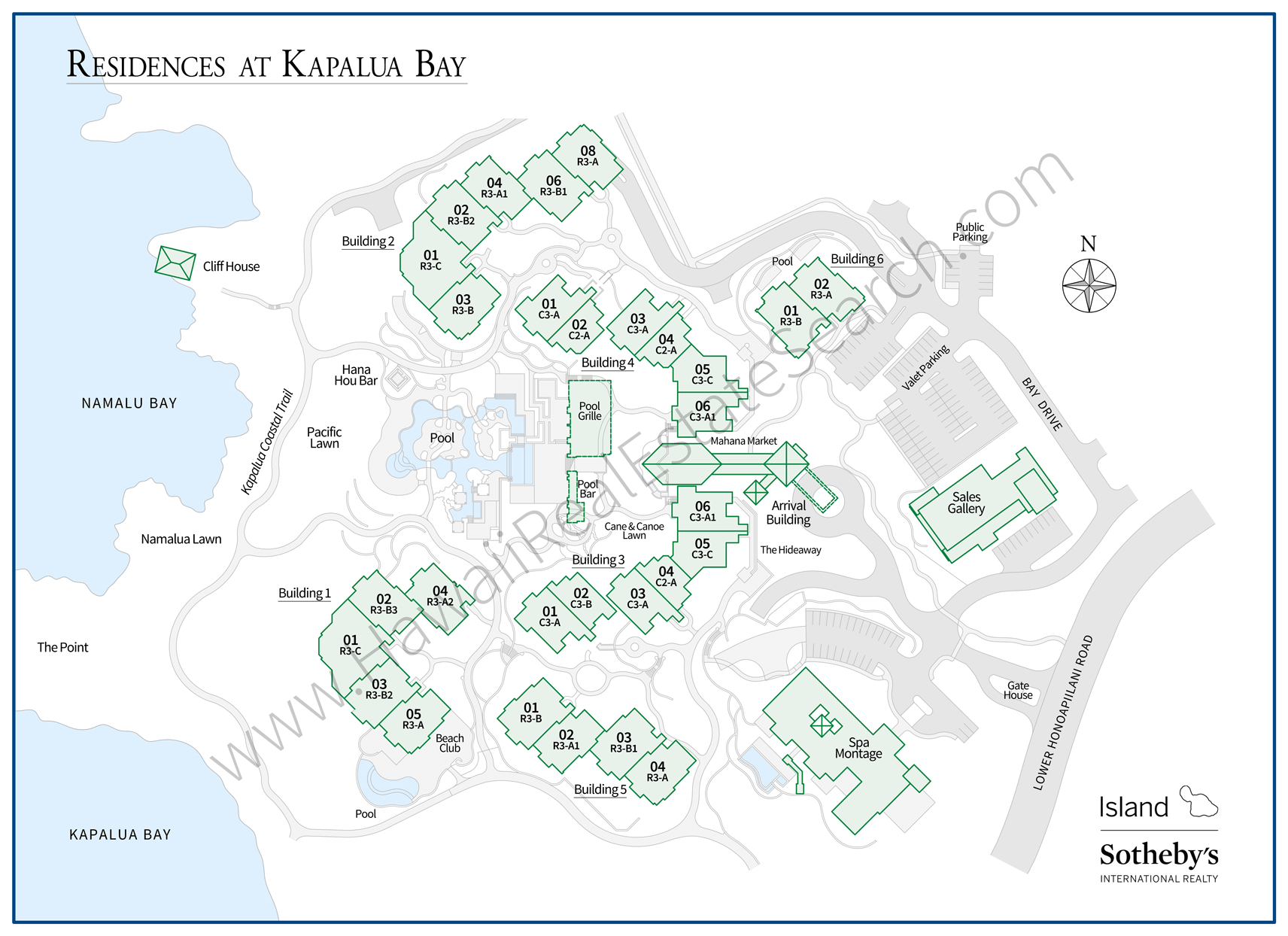 Montage Kapalua Map 2020