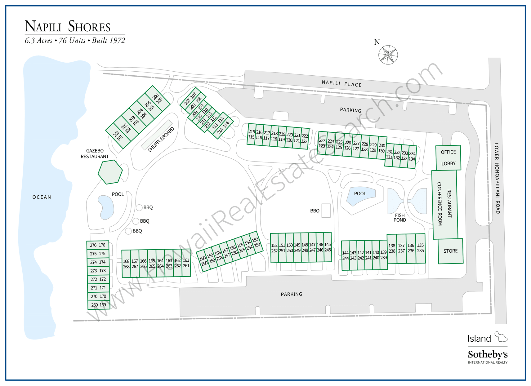 Napili Shores Property Map Updated 2018