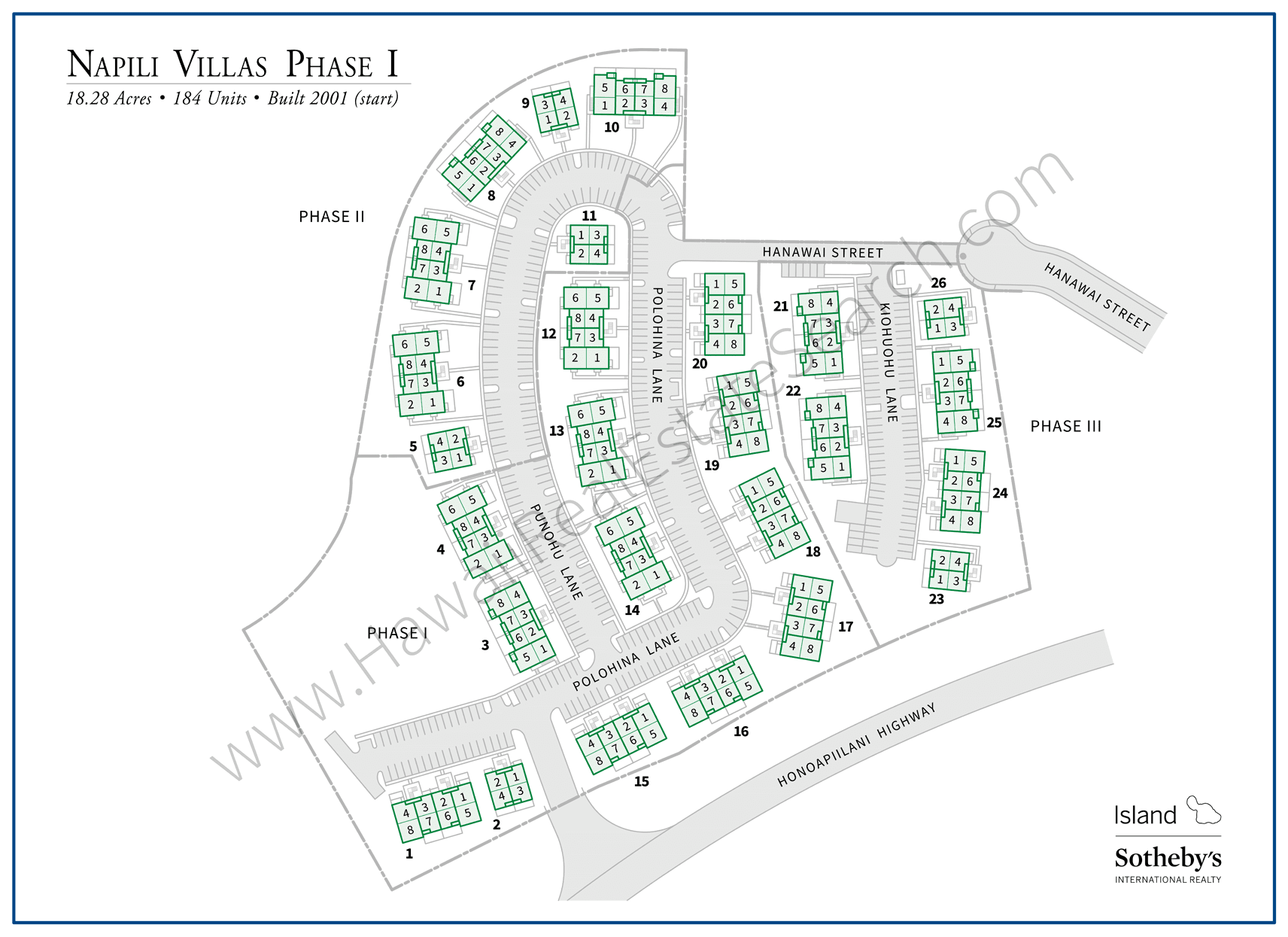 Napili Villas Property Map Updated