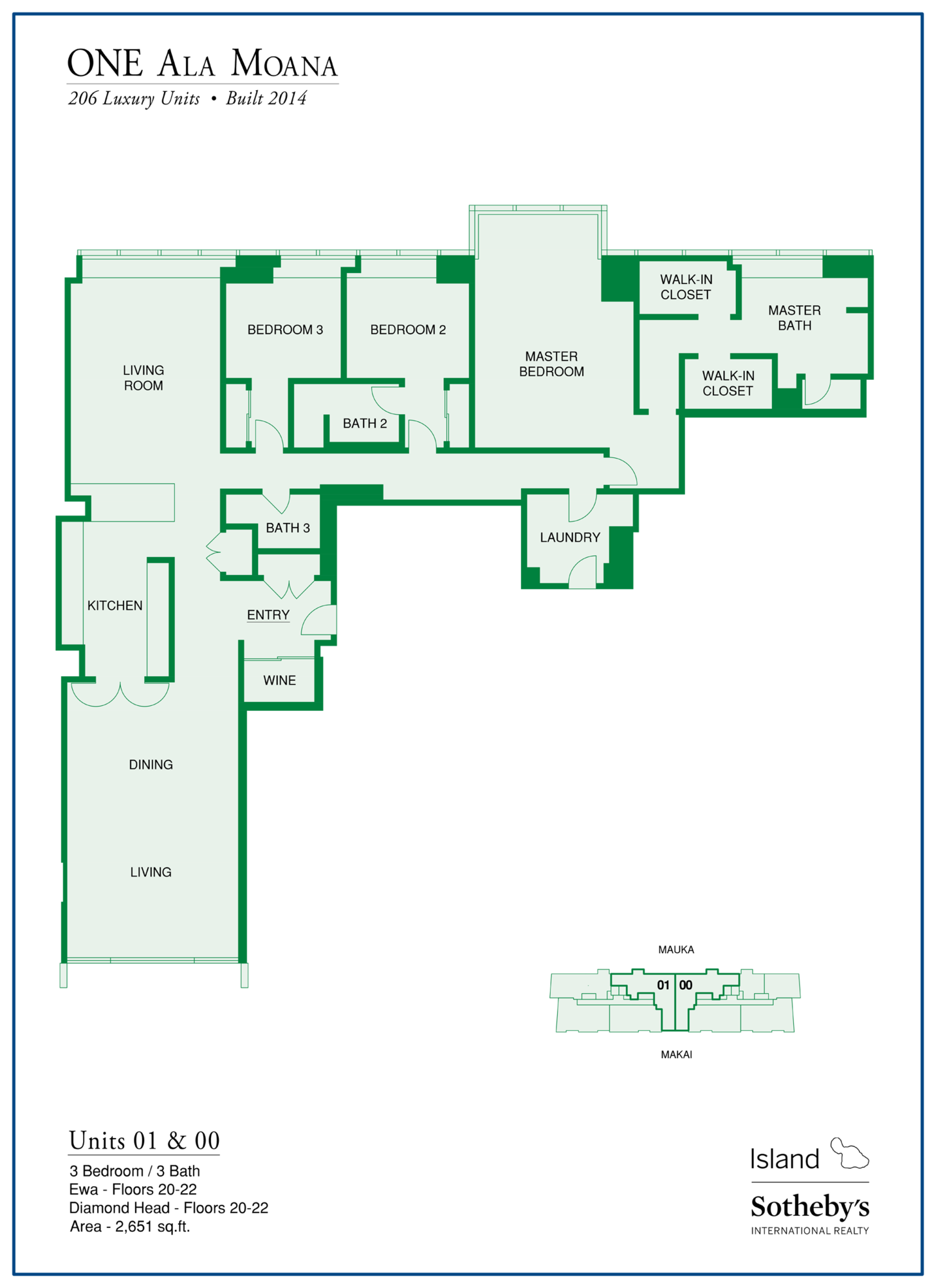 one ala moana floor plan