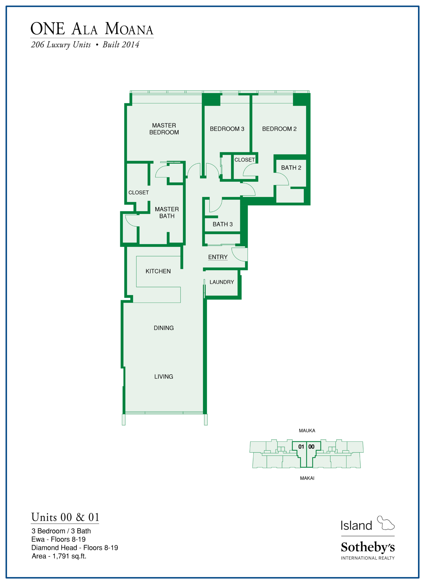 one ala moana typical floor plan