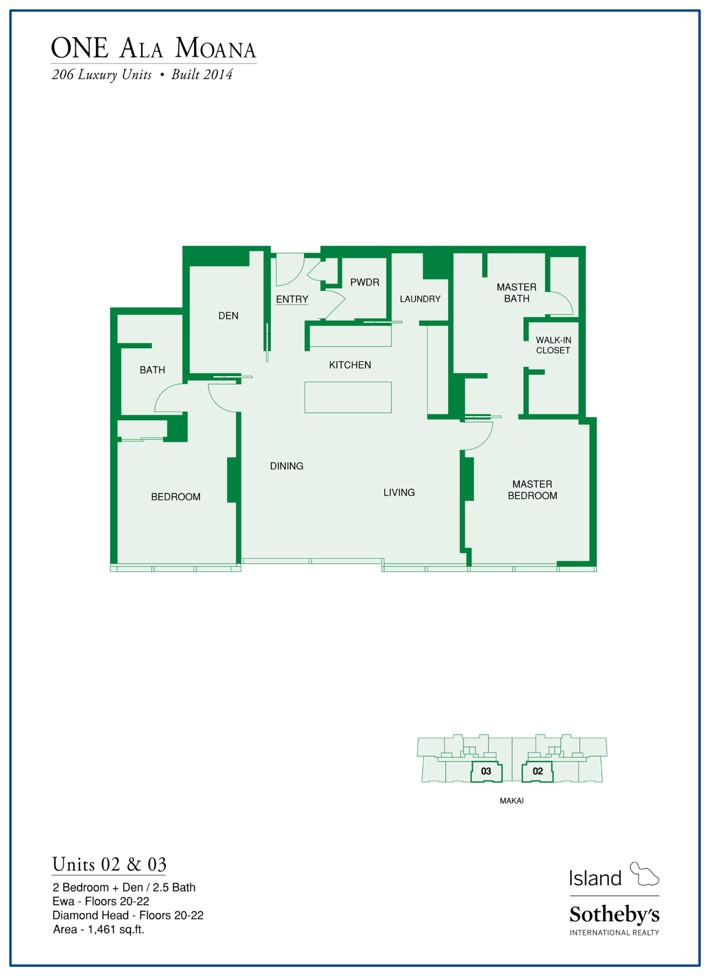 floorplan one ala moana condo for sale