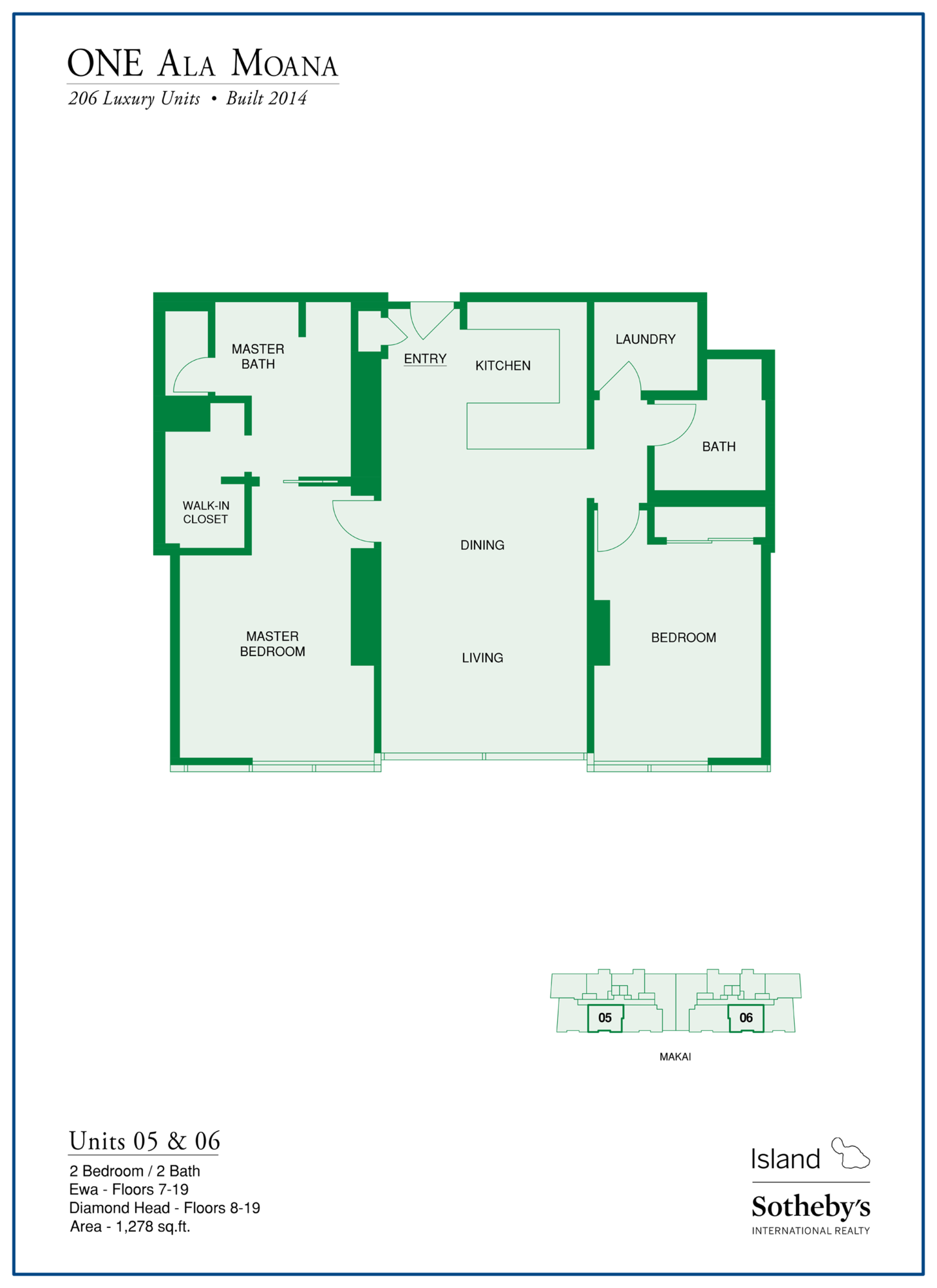 honolulu one ala moana floor plan