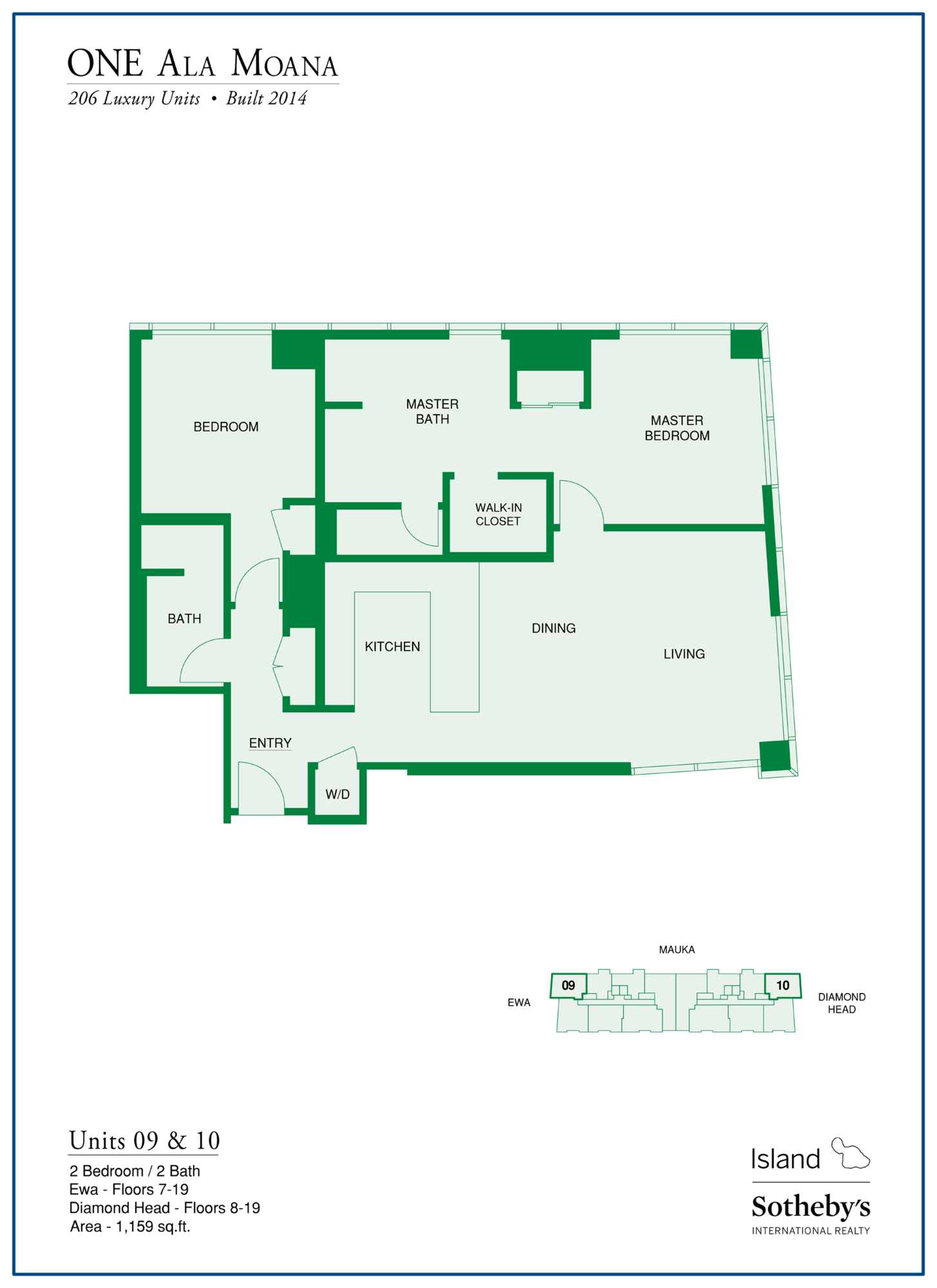 one ala moana floor plan stack 9