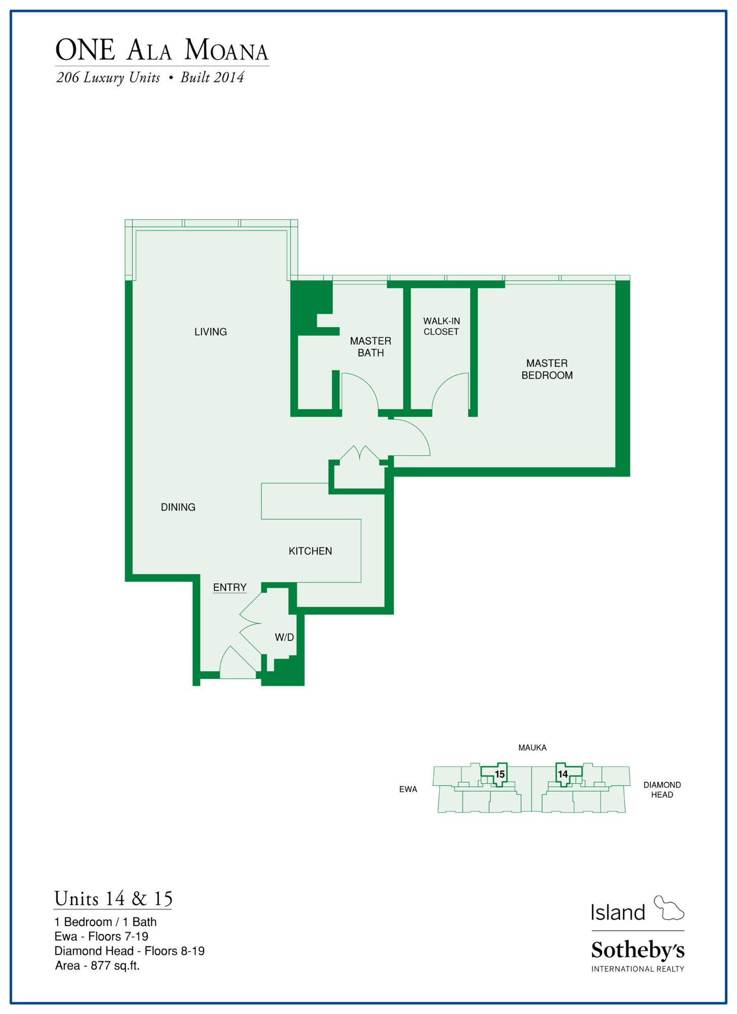 one ala moana floor plan 11 stack
