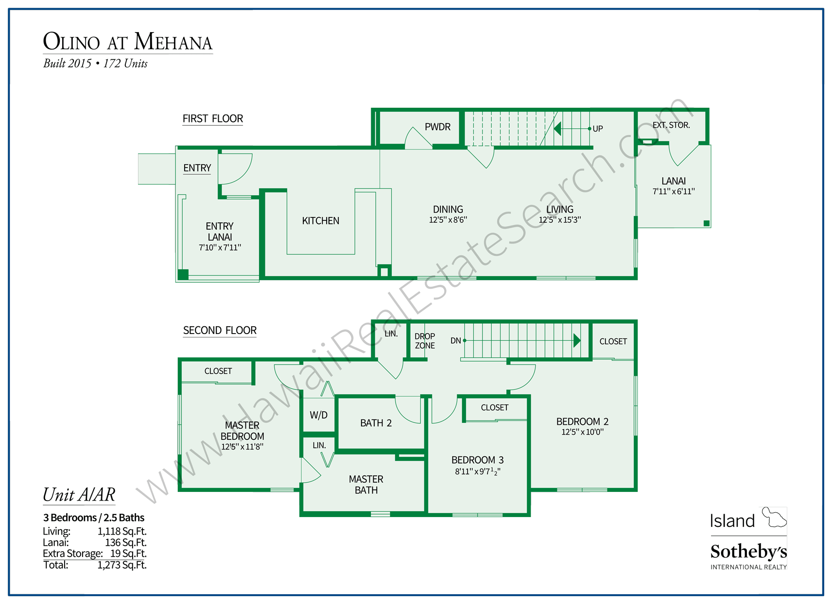 Olino at Mehana Floor Plan