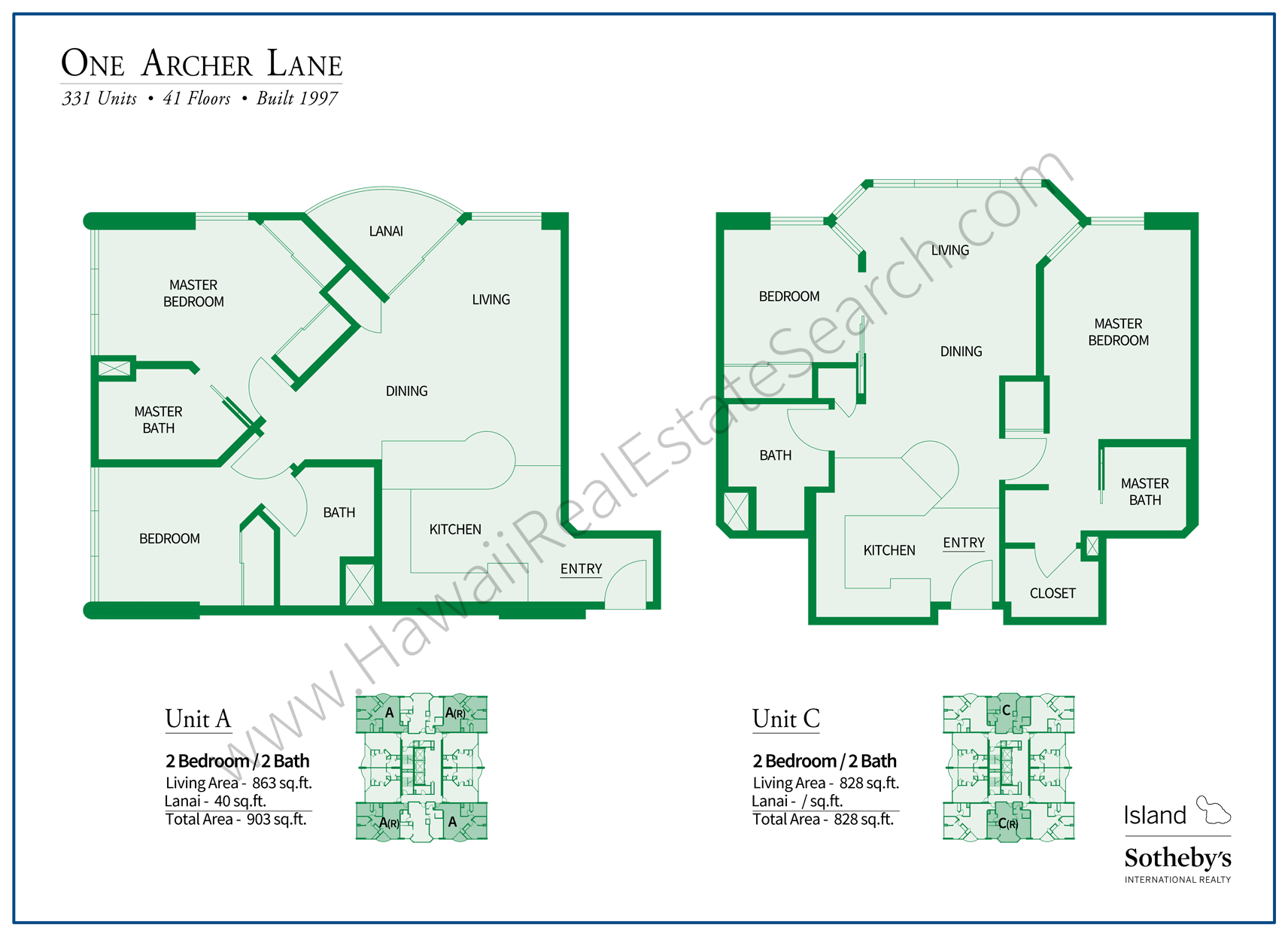 One Archer Lane Floor Plans 2018