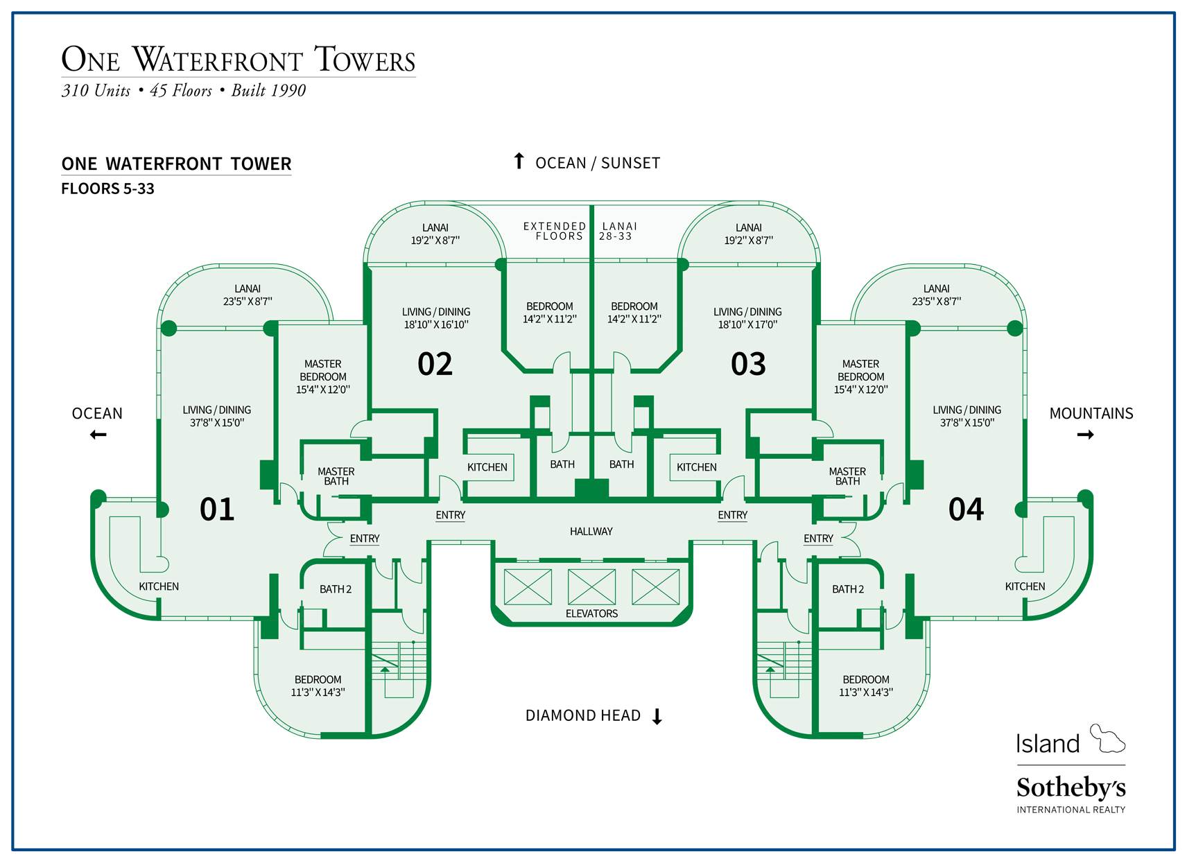 one waterfront towers map