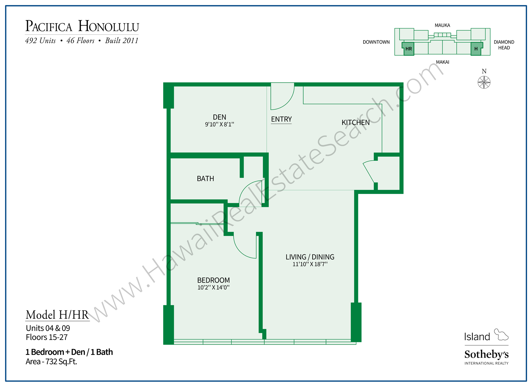 Pacifica Honolulu Floor Plan H