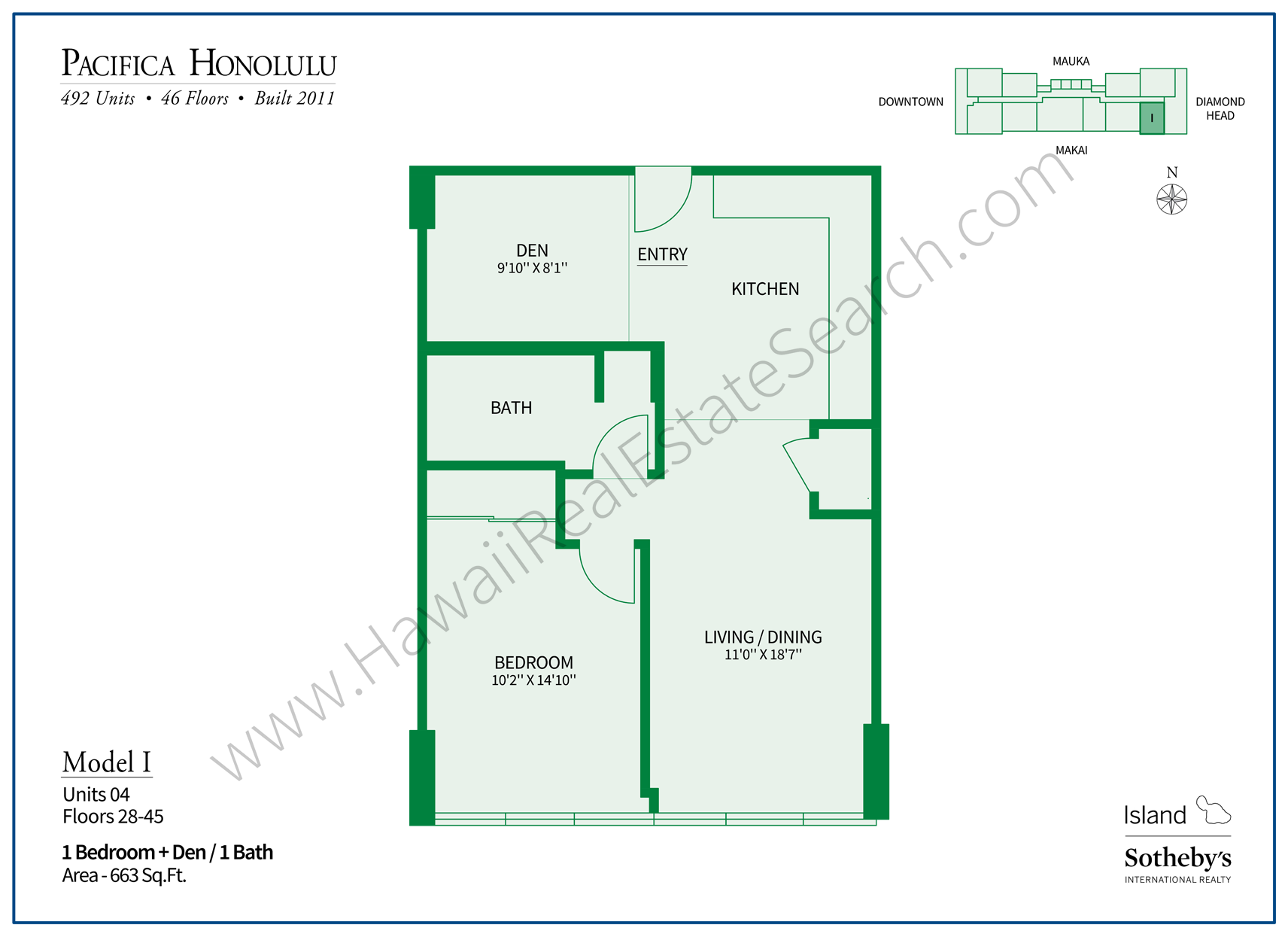 Pacifica Honolulu Floor Plan I