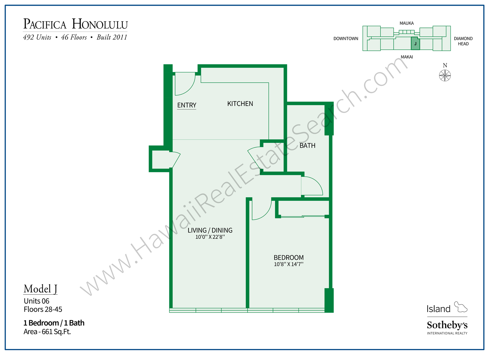 Pacifica Honolulu Floor Plan J
