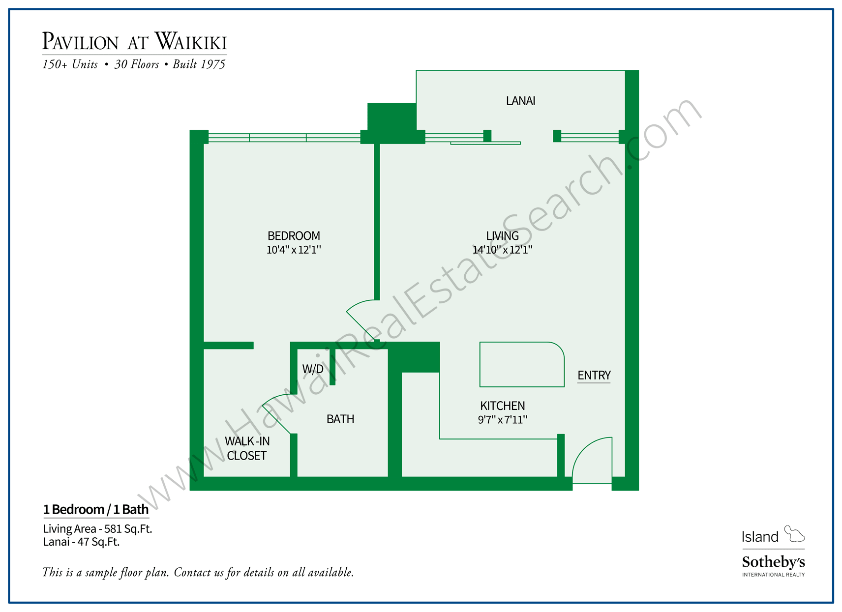 Pavilion at Waikiki Floor Plan