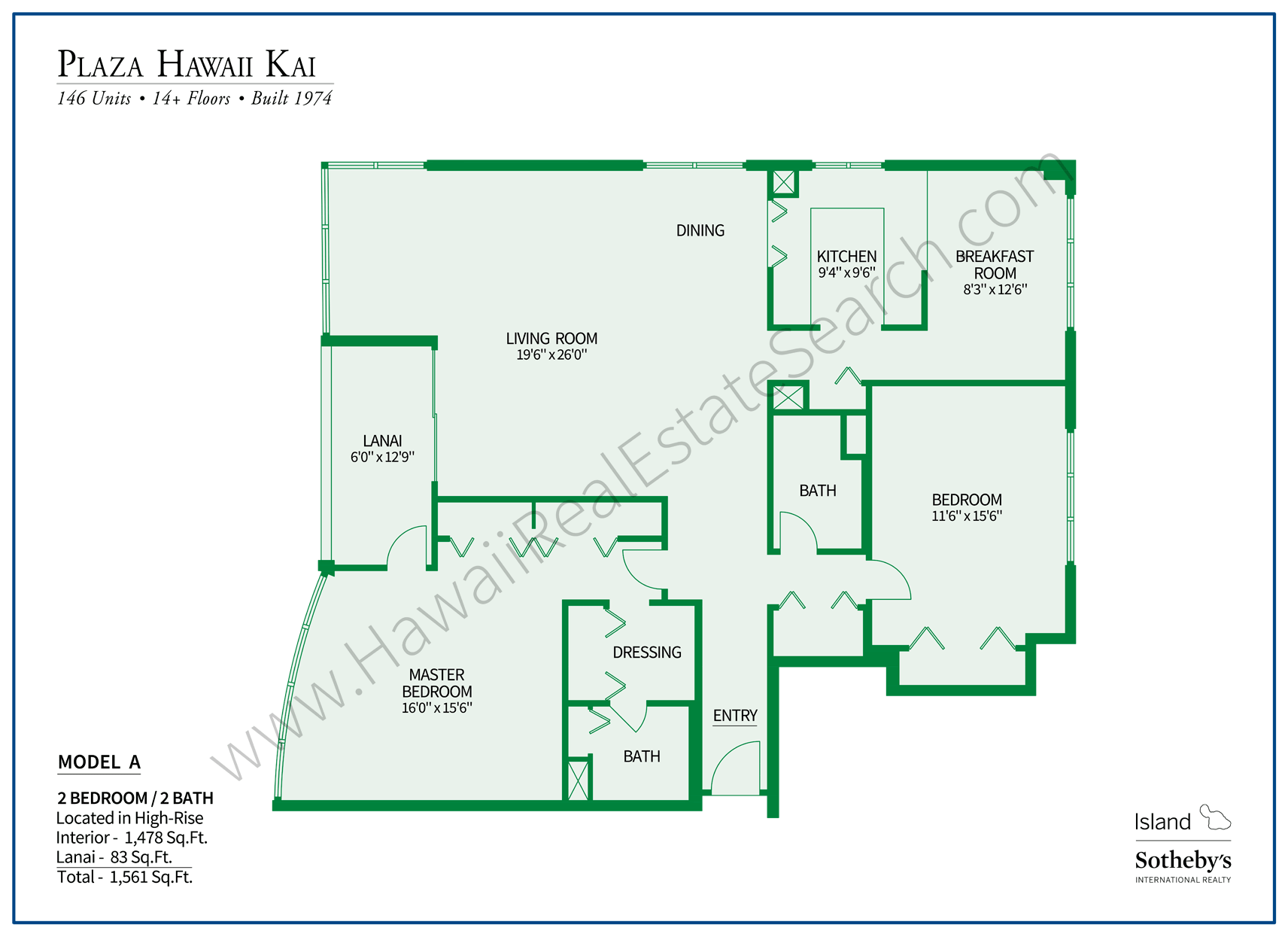 Plaza Hawaii Kai Floor Plan A